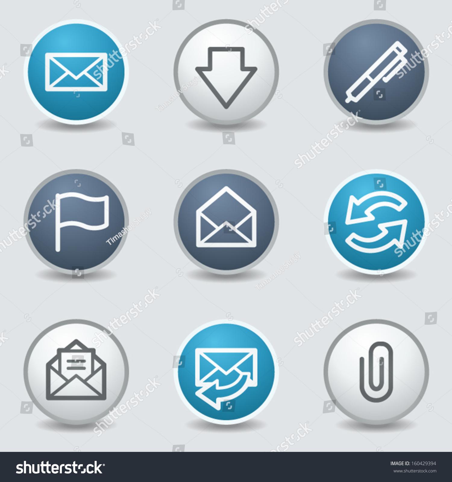 Mail Web Icons  Circle...