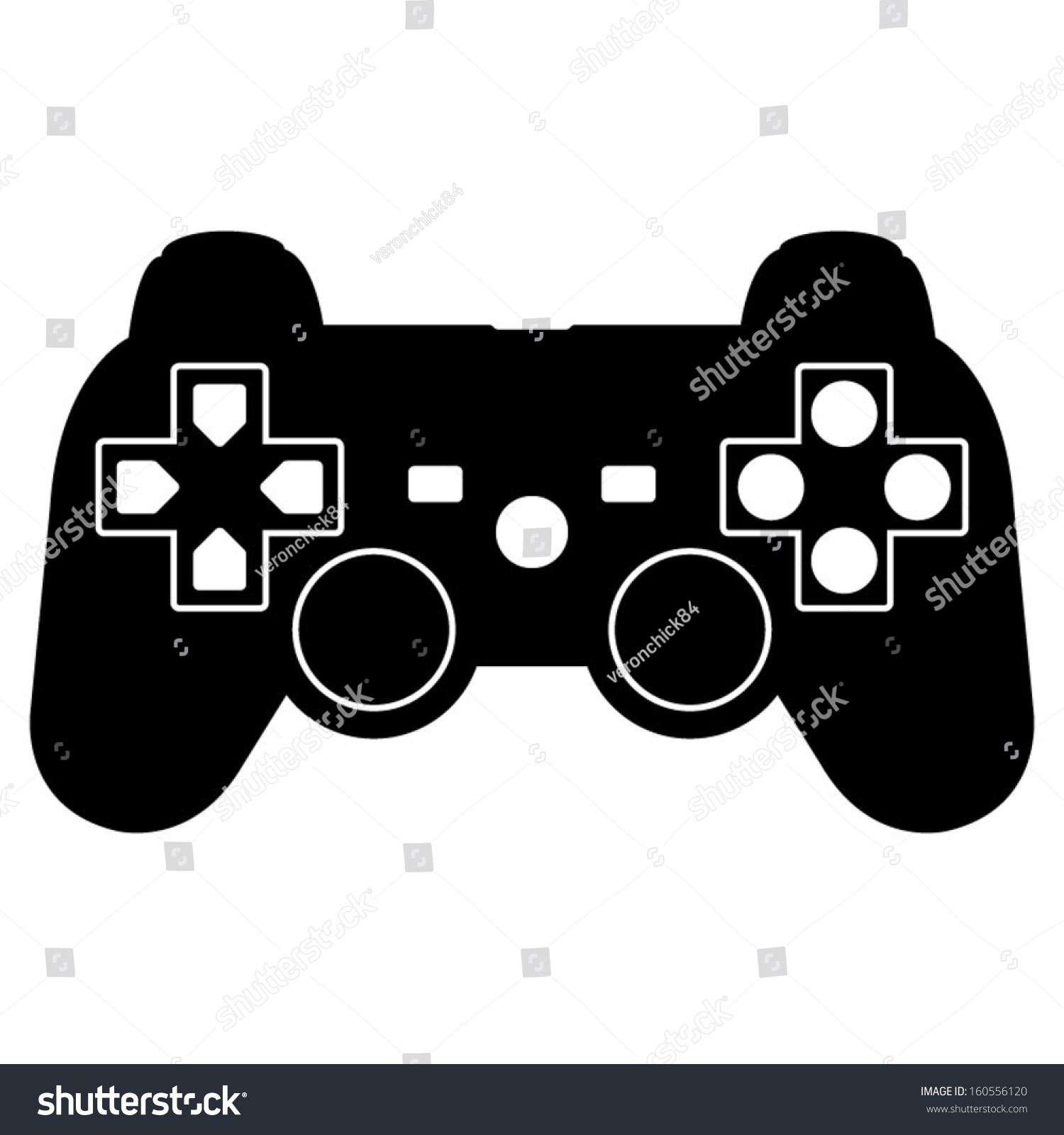 game controller icon stock vector illustration 160556120