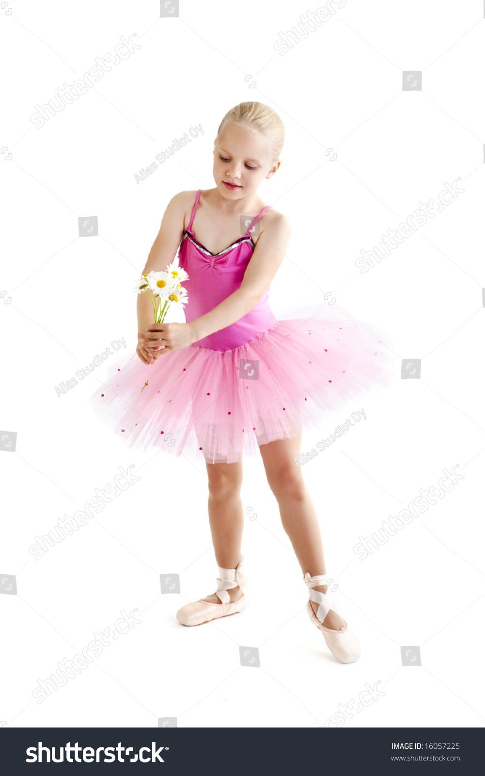 xusenet.com nonude Young ballerina dancer over a white background