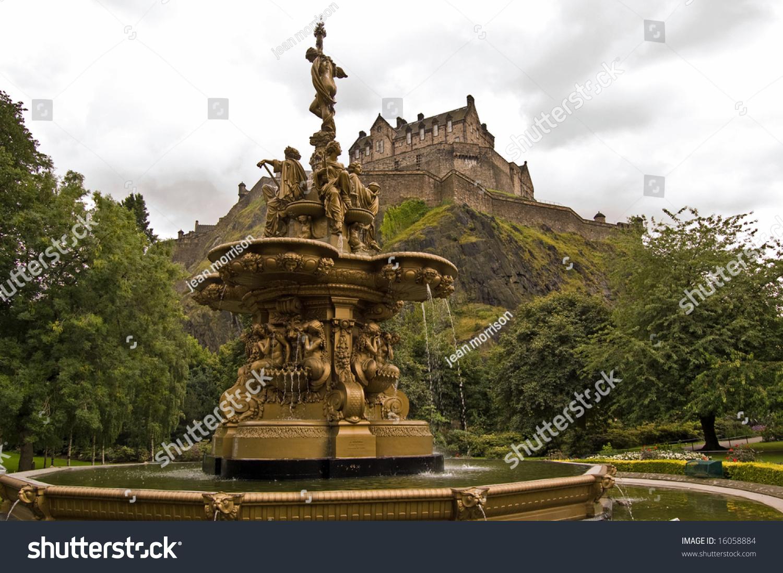 Ross Fountain Princes Street Gardens Edinburgh Stock Photo (Edit Now ...