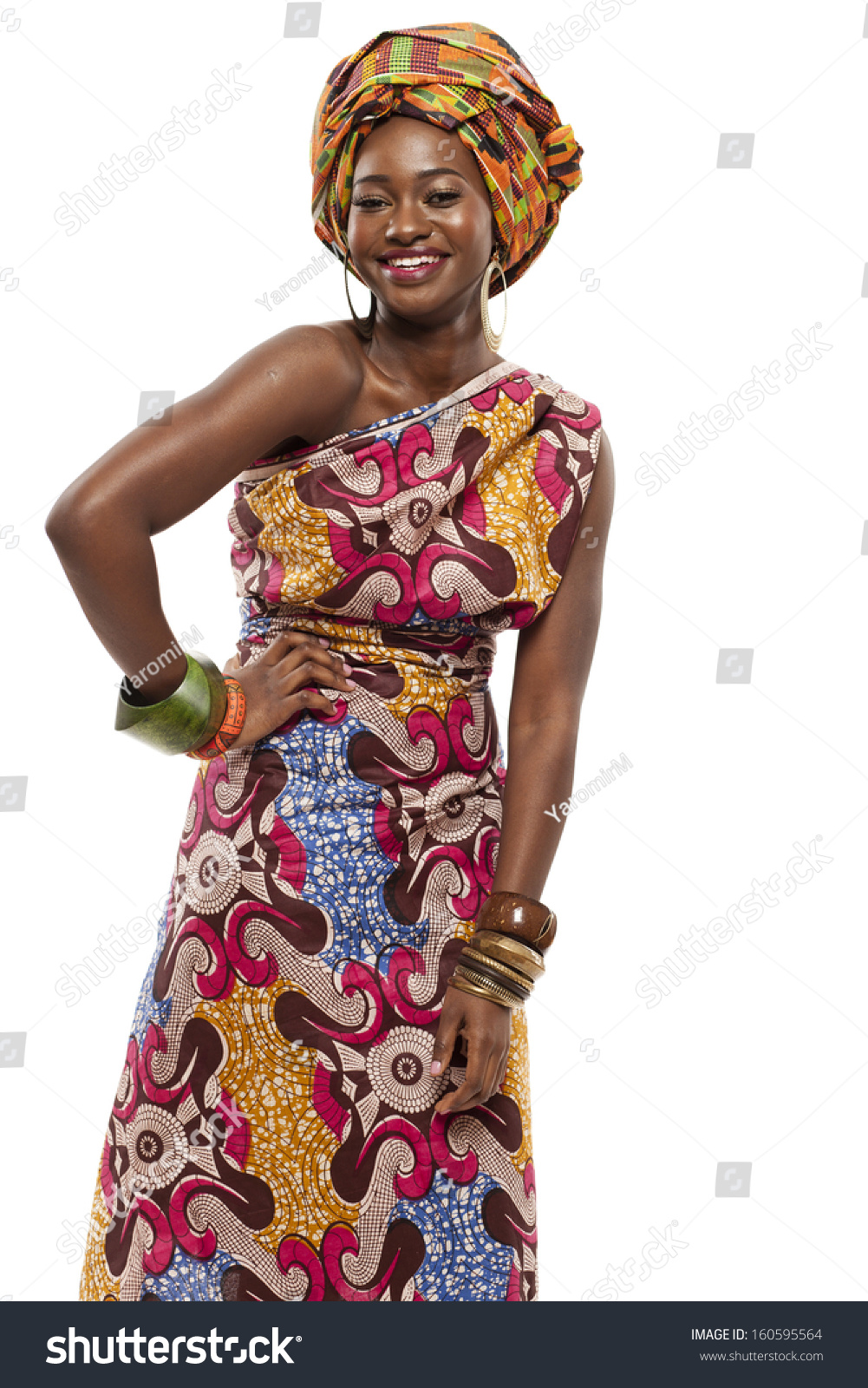 Young beautiful african fashion model traditional stock photo 160595564 shutterstock - Dressing modellen ...