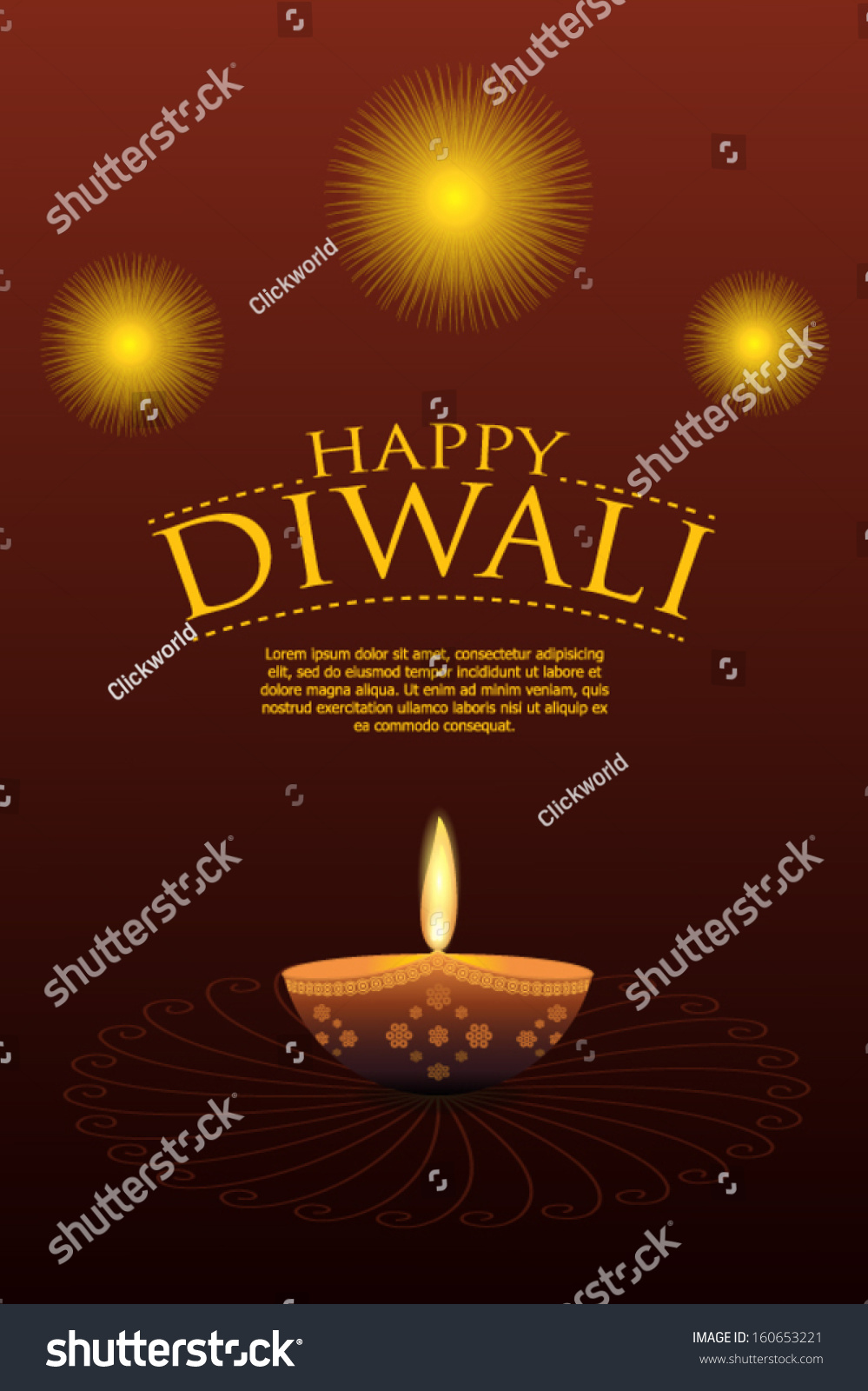 Happy diwali greeting card stock vector royalty free 160653221 happy diwali greeting card m4hsunfo