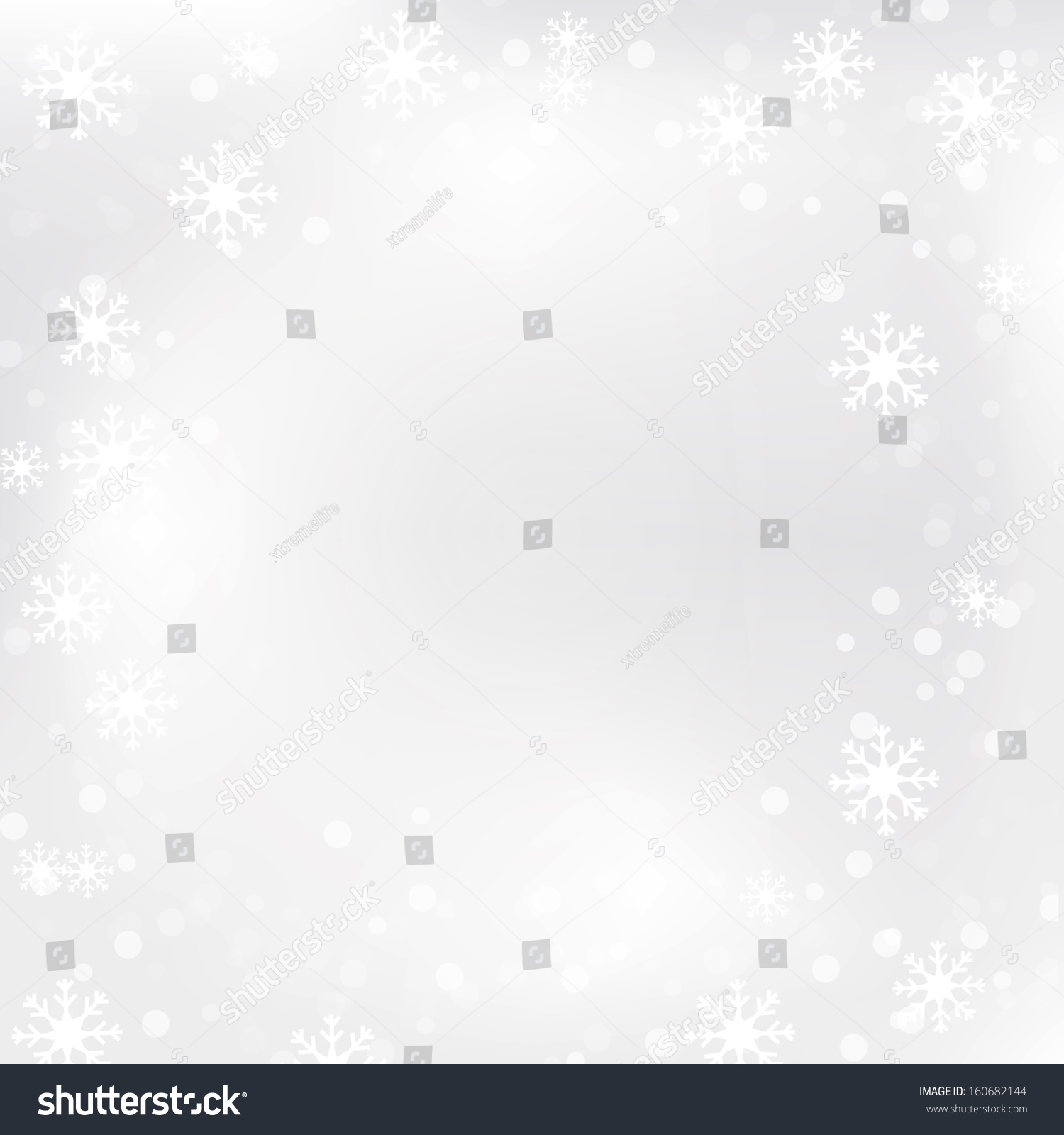 Printable Snowflakes Stock Vector Royalty Free 160682144