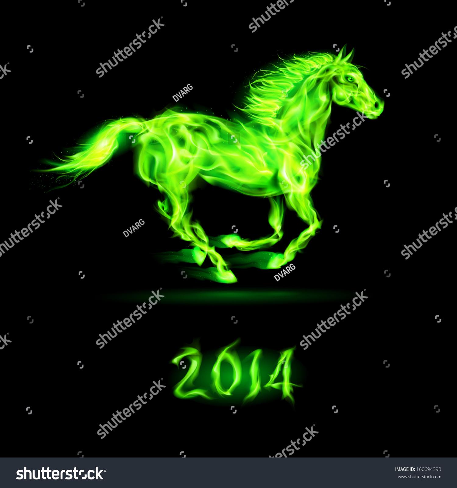 Green Fire Horse