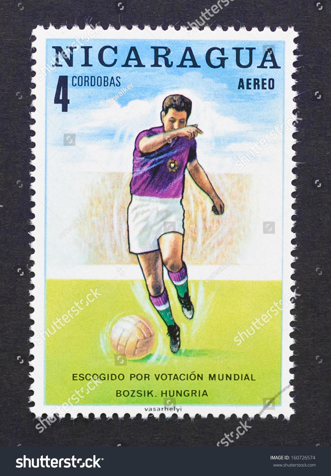 Nicaragua Circa 1970 Postage Stamp Printed Stock