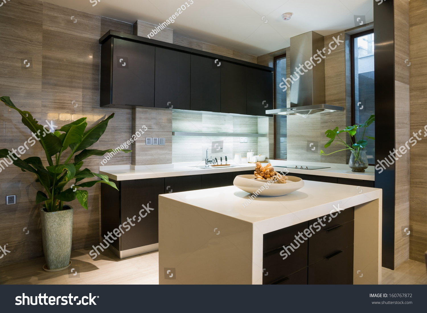 Nice kitchen modern style stock photo 160767872 shutterstock for Nice kitchen pictures