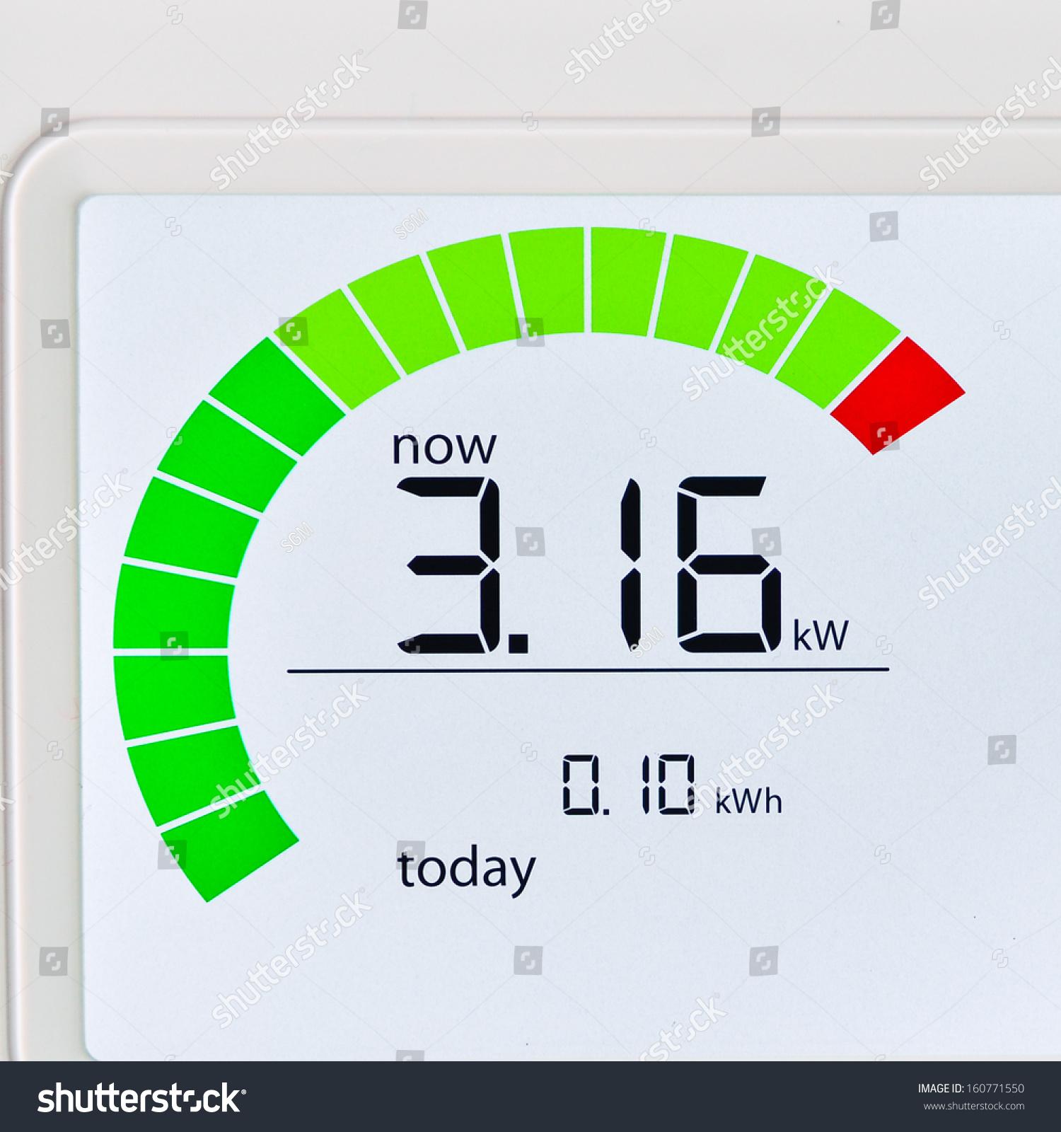 Household Energy Meter : Household energy usage meter stock photo