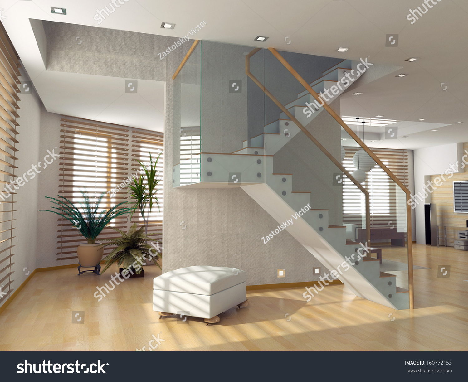 Modern Living Room Interior Contemporary Concept Stock