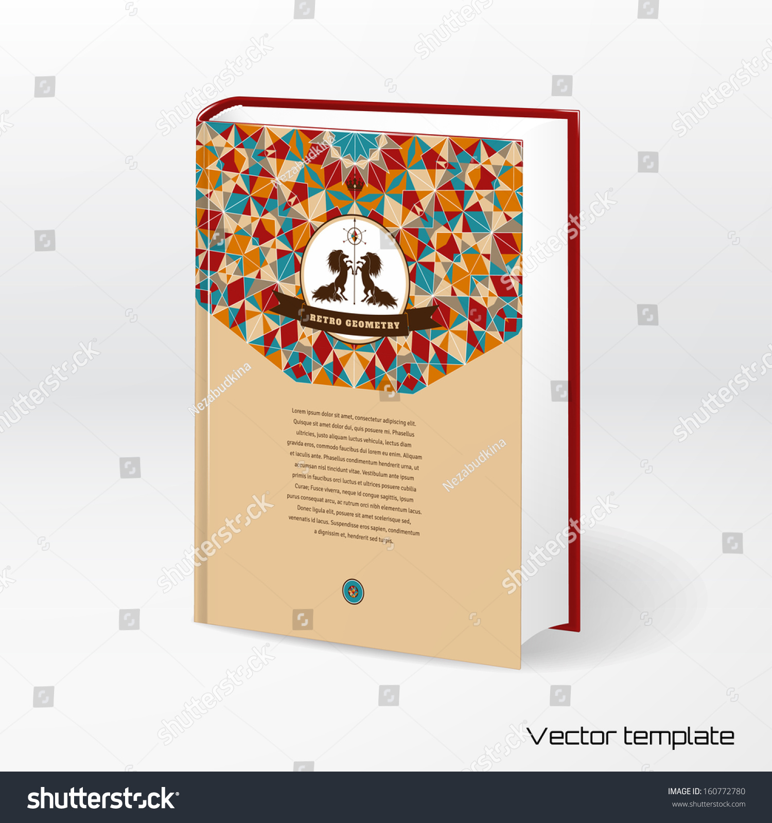 Book Cover Pattern Template : Vector template book cover multicolored round stock