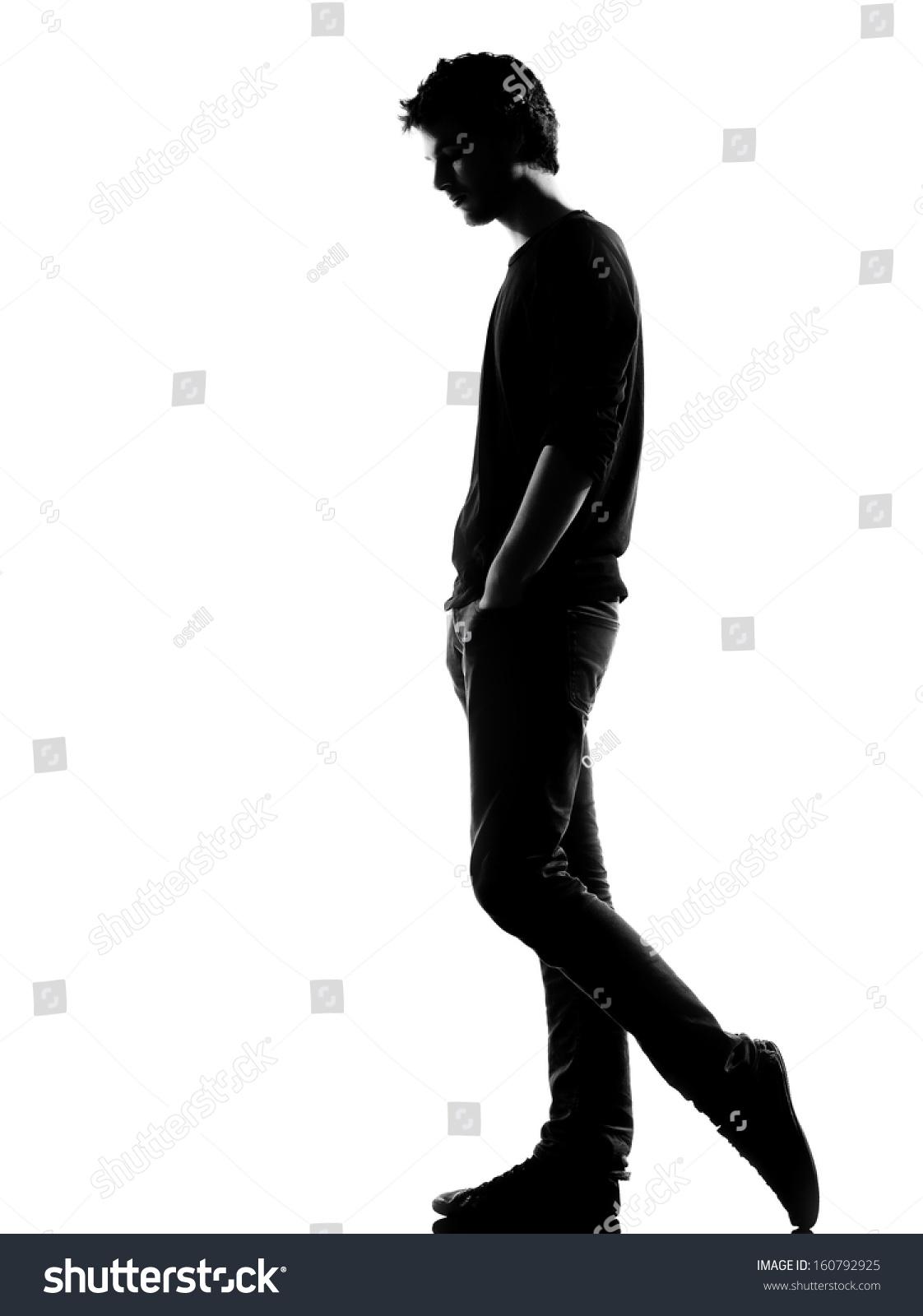 Young Man Sad Walking Silhouette Studio Stock Photo ...   1122 x 1600 jpeg 146kB