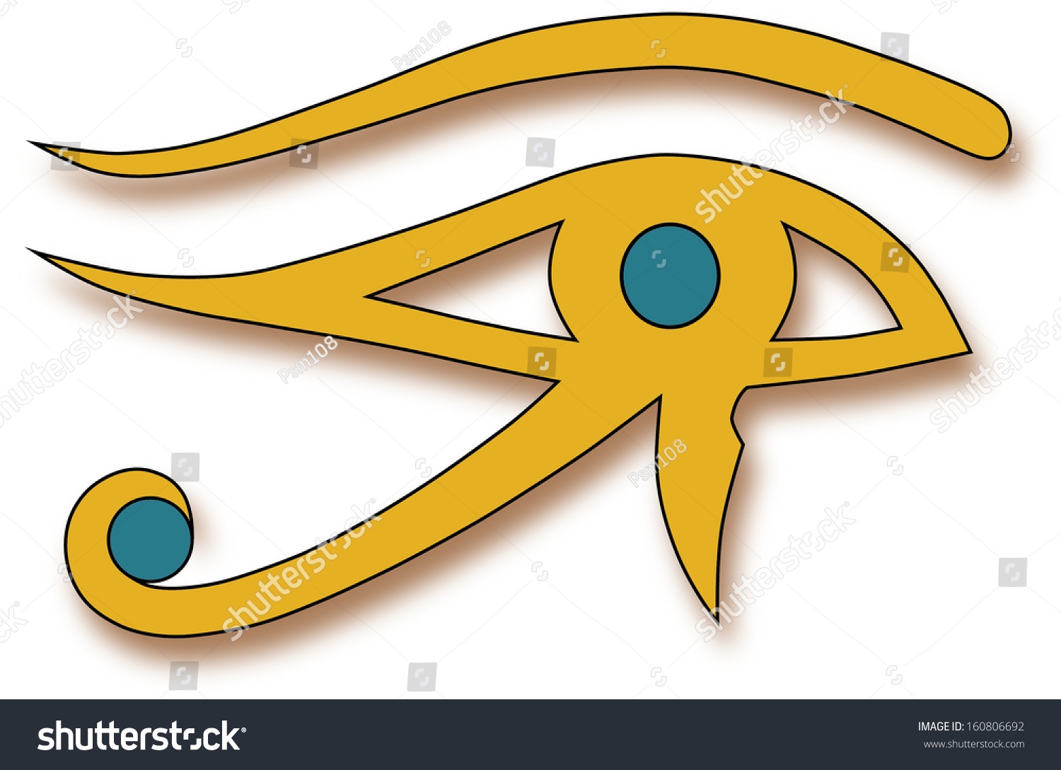 Eye Horus Considered Magic Tool Used Stock Illustration 160806692