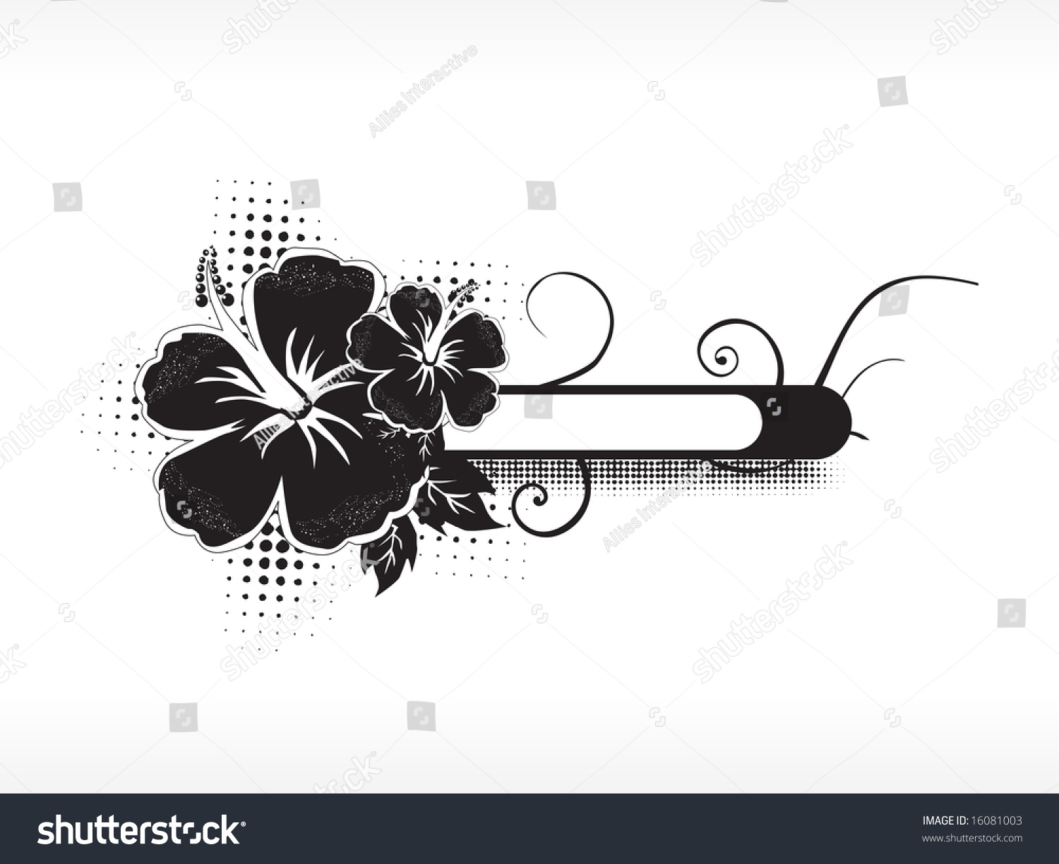 Logo Hibiscus Flower Isolated On White Stock Vector Royalty Free