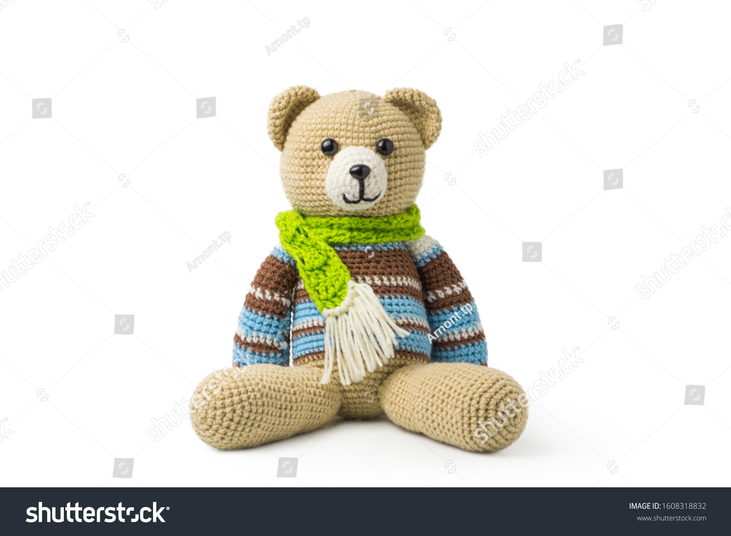 Free Crochet Pattern for an Amigurumi Teddy Bear in a Sweater ... | 1101x1500
