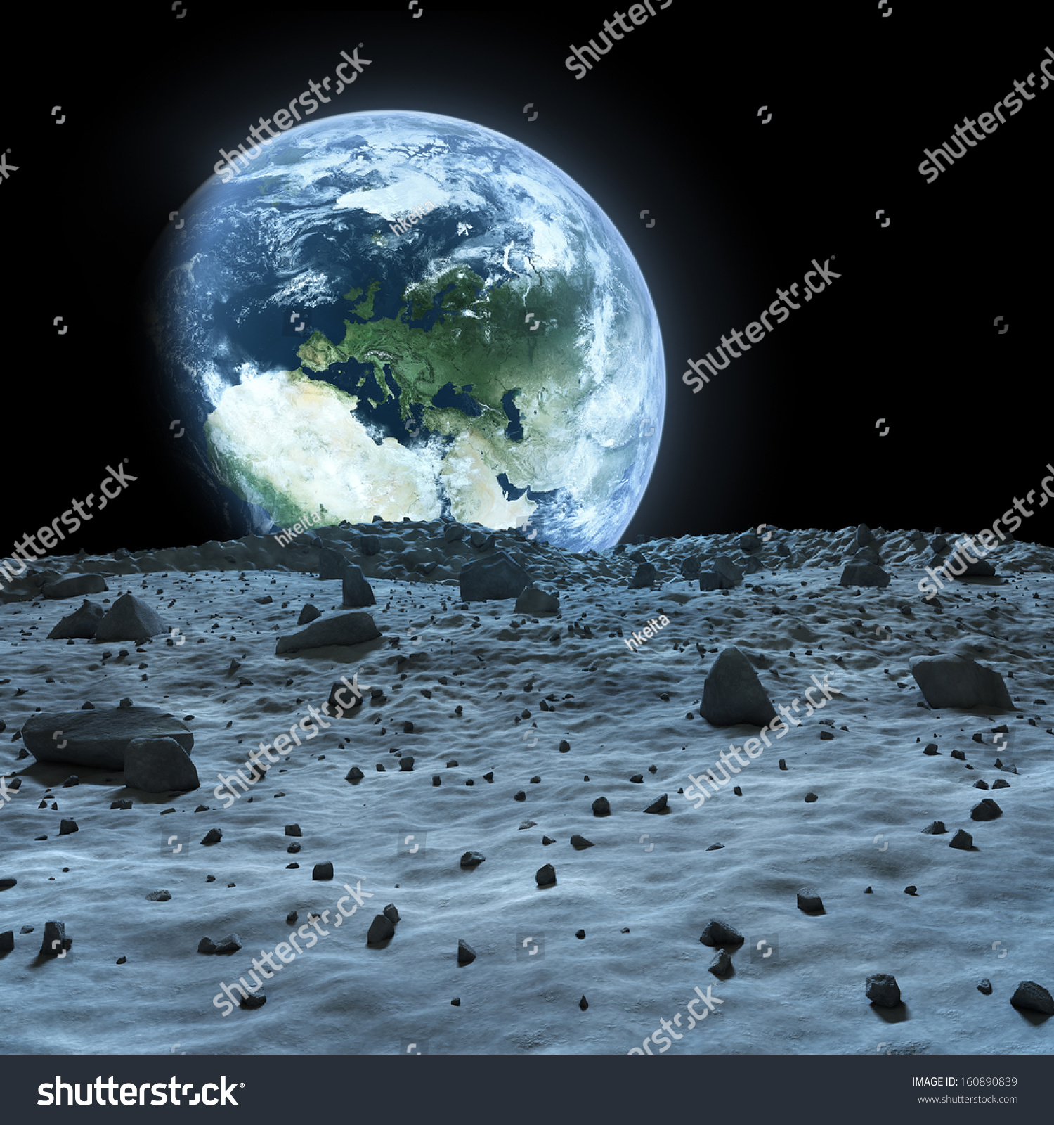 Earth Seen Moon Elements This Image Stock Illustration ...