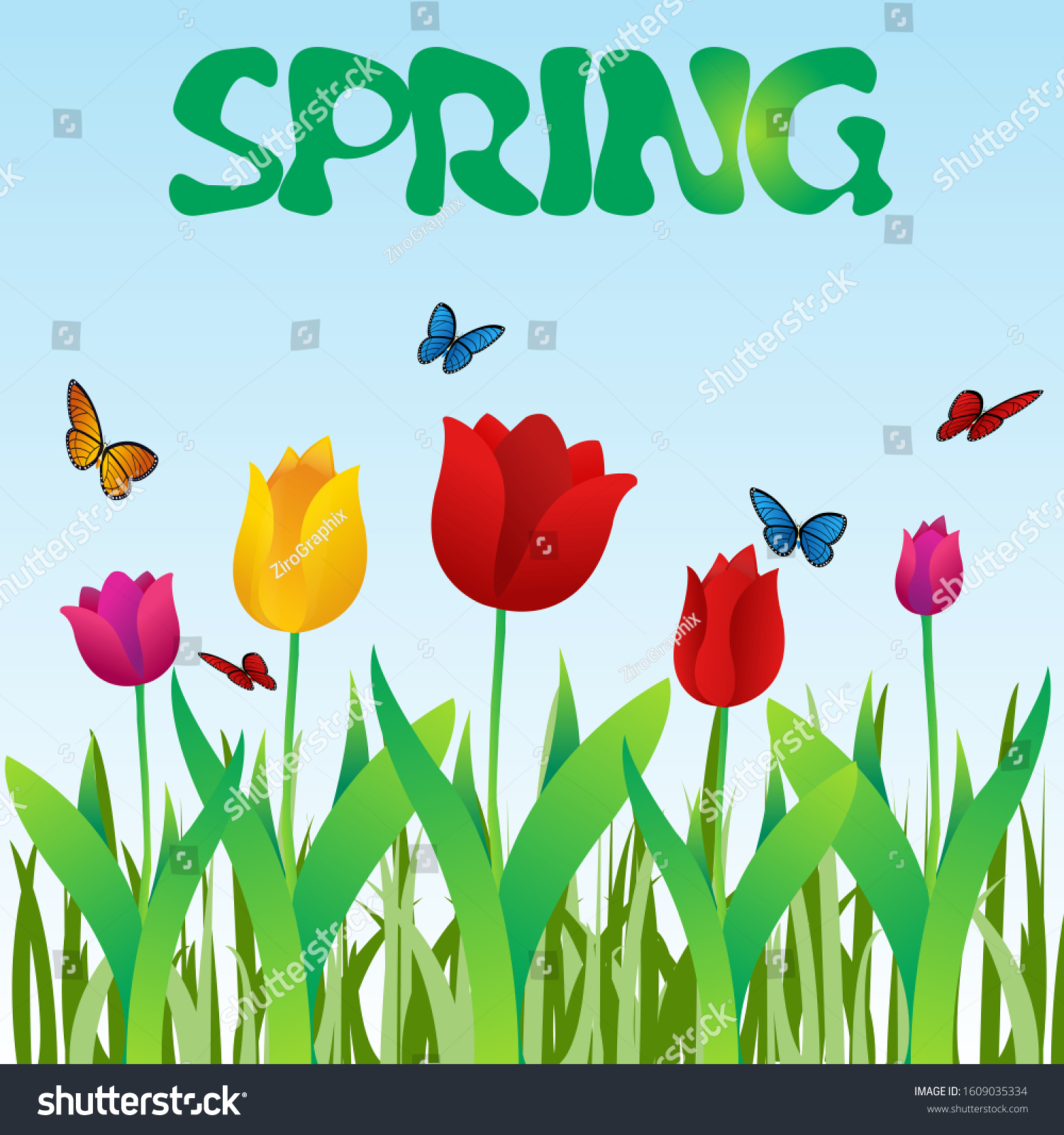 spring season vector illustration design stock vector (royalty free)  1609035334  shutterstock