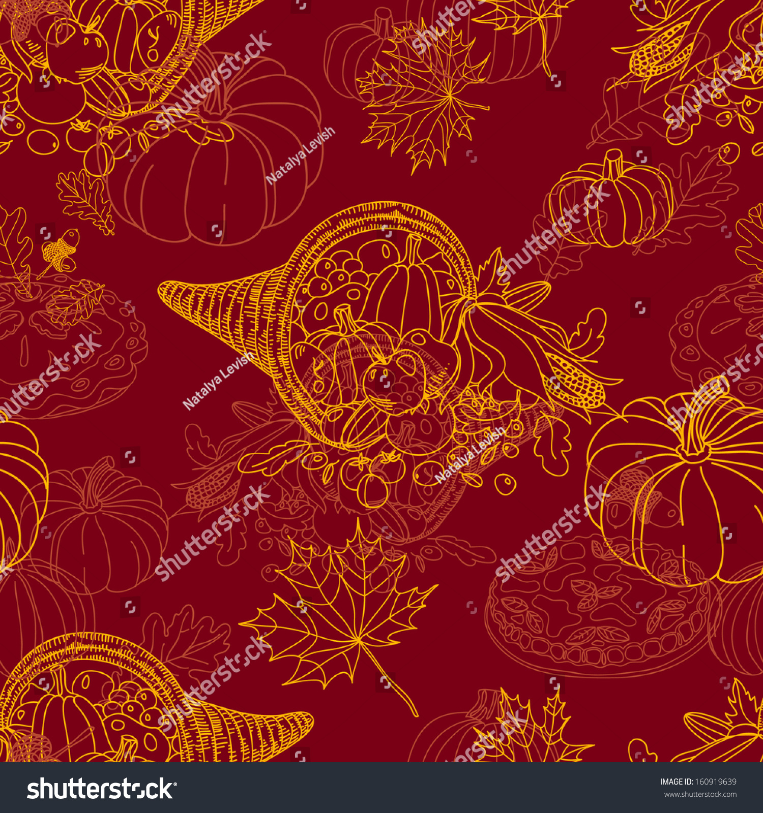 Seamless Thanksgiving Pattern. Repeating Abstract ...