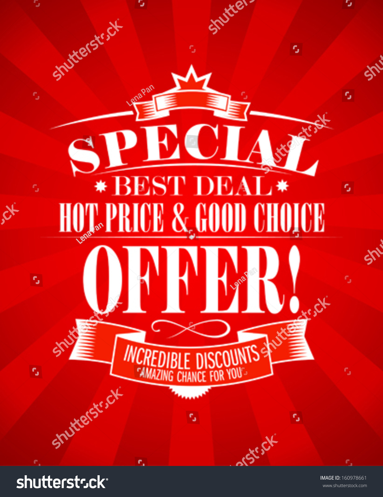 best deal special offer design template stock vector  best deal special offer design template
