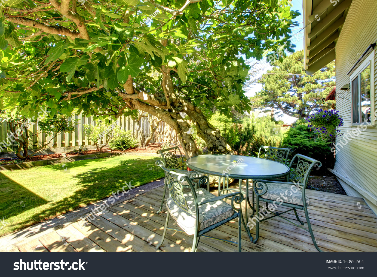 Typical American Backyard Of The Small Old Craftsman Style ...