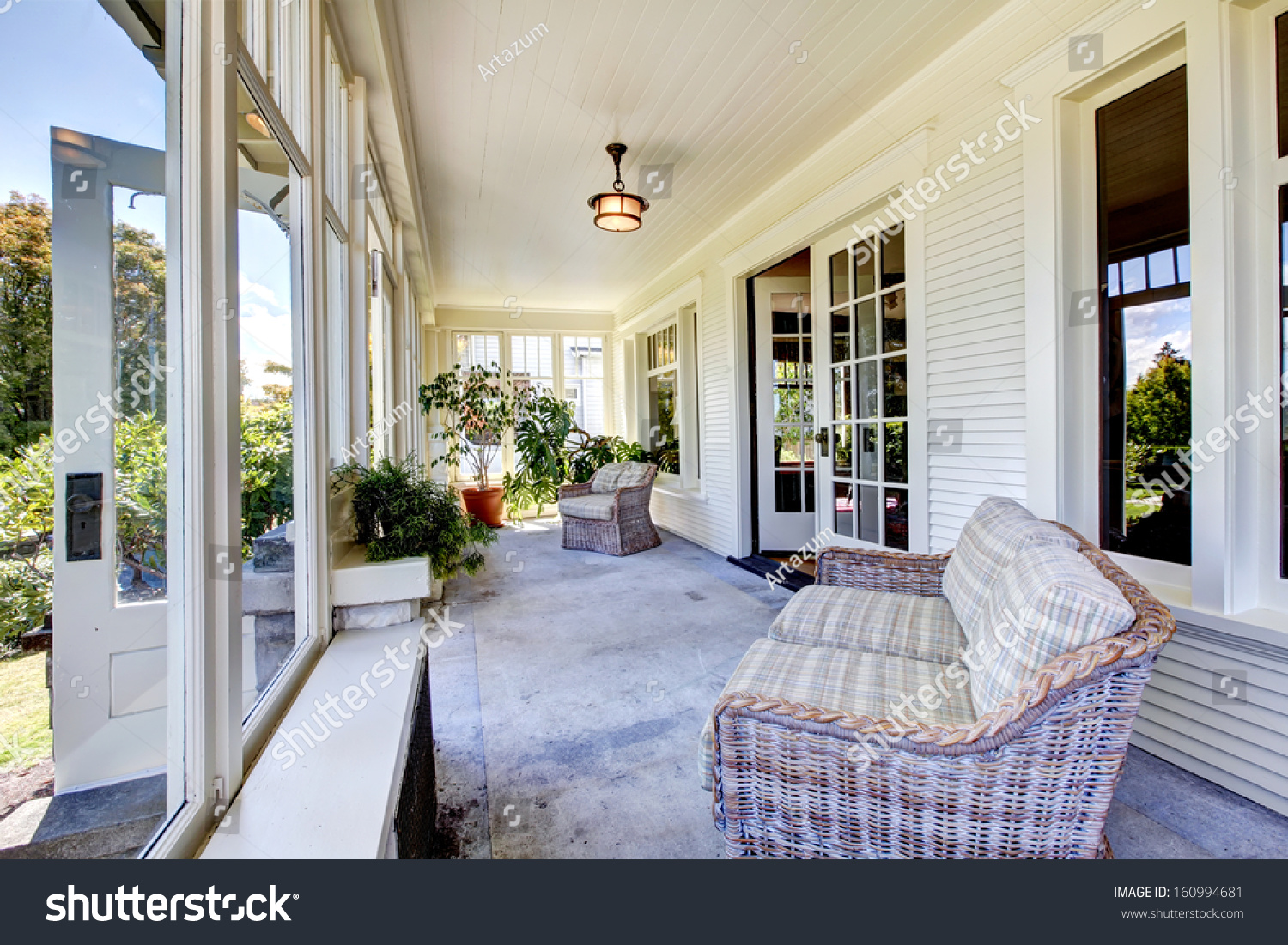 Porch Interior Old Classic American Craftsman Style Home