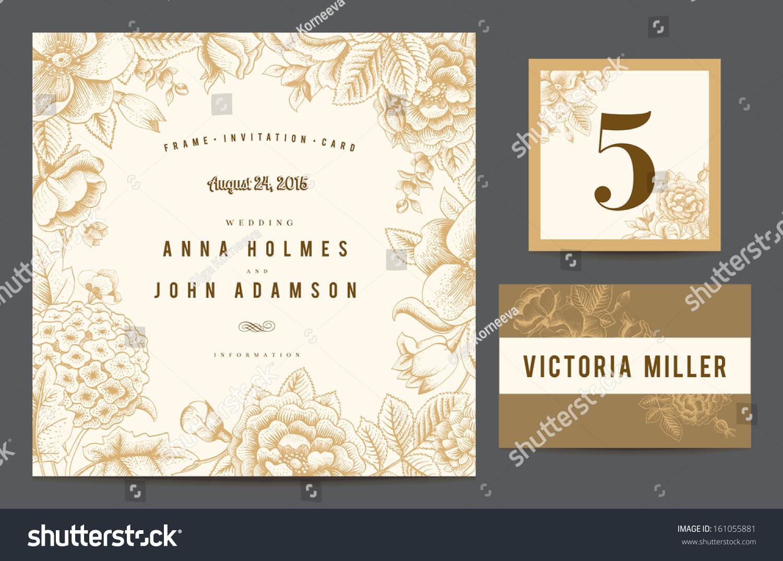Set backgrounds celebrate wedding invitation card stock vector set backgrounds to celebrate the wedding invitation card table number guest card stopboris Image collections