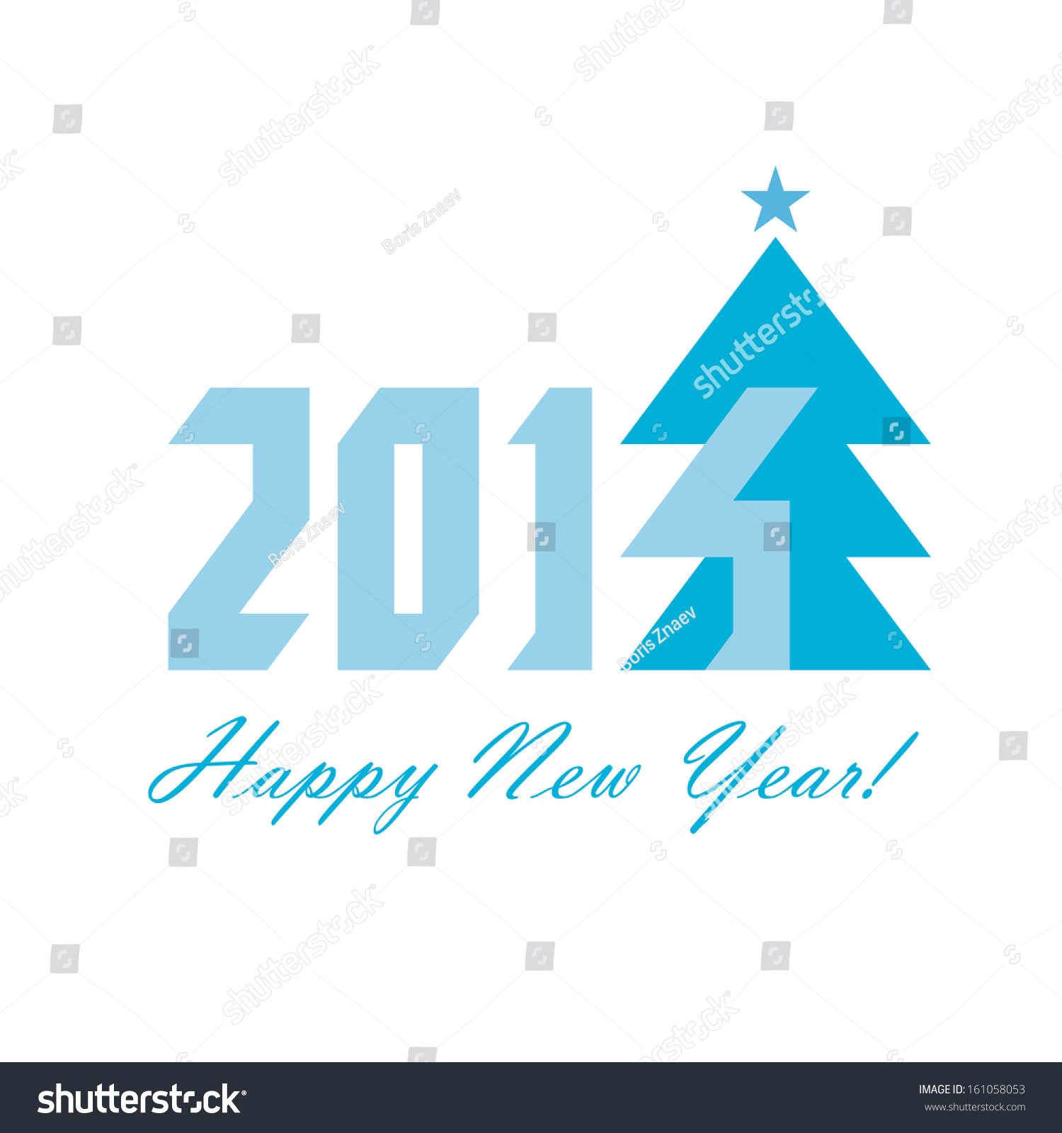 Happy new year 2014 greeting card stock illustration 161058053 the happy new year 2014 greeting card m4hsunfo