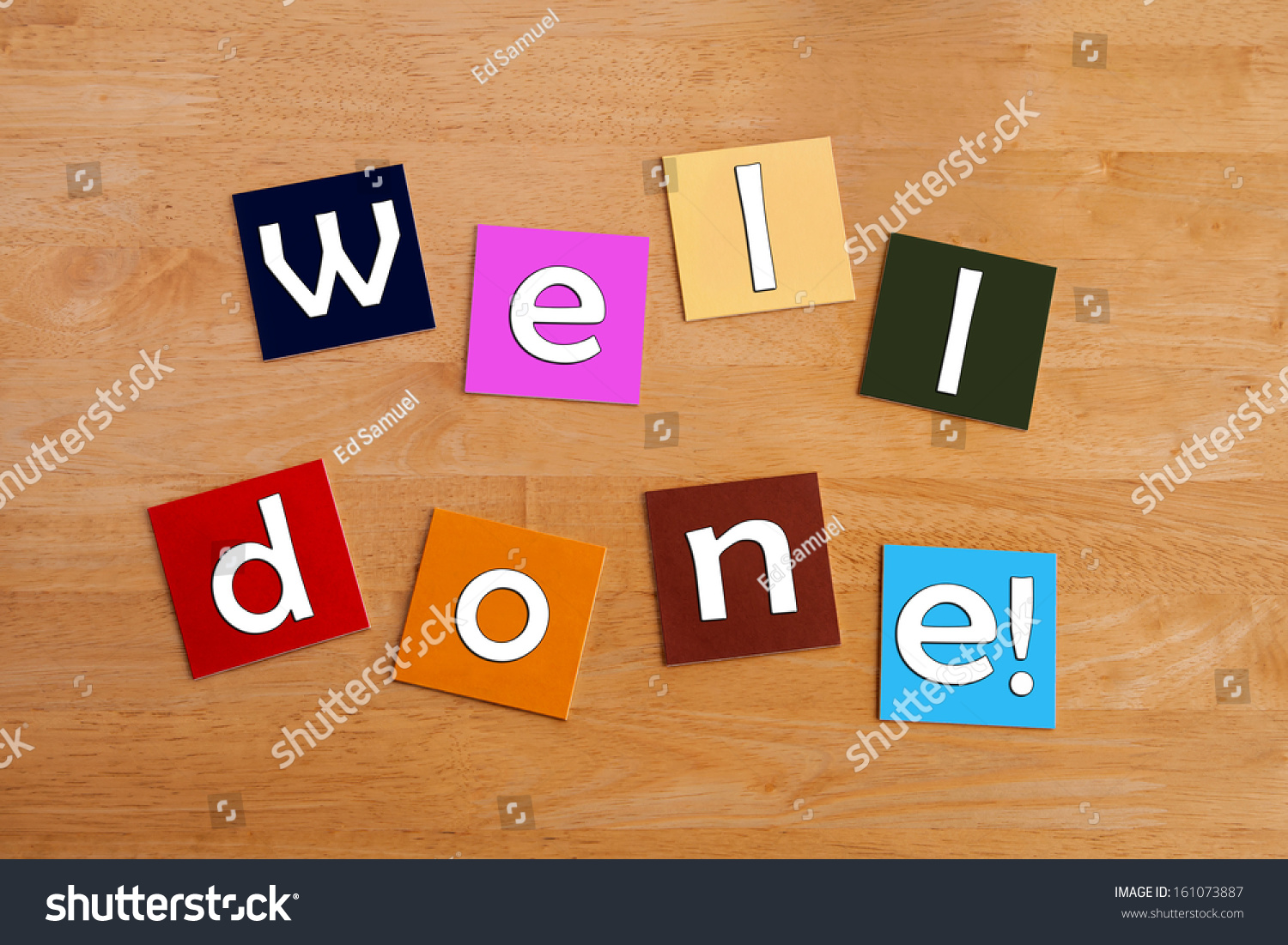 Well Done   For Education, School Children, Praise, Reward   Sign Or  Greeting