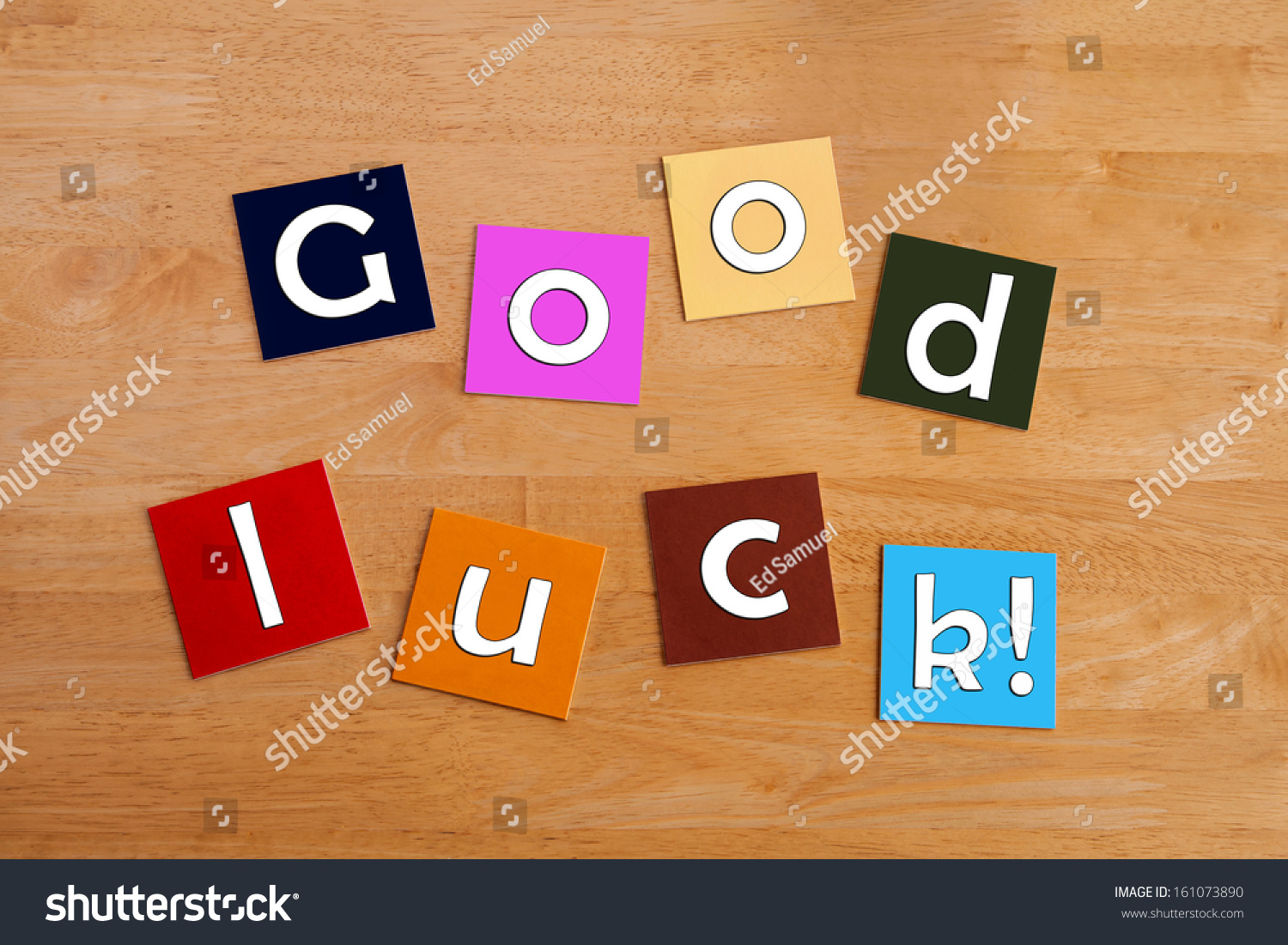 Good Luck Best Wishes Sign Greeting Photo 161073890 – Good Luck Cards to Print