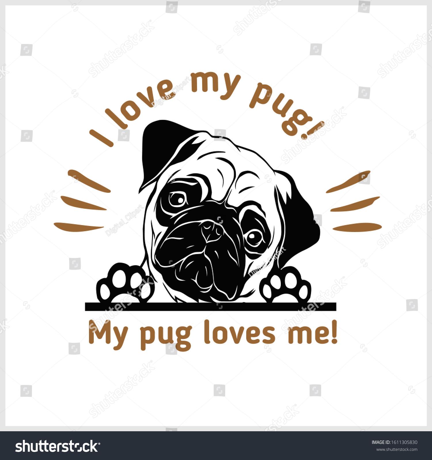 peeking pug vector illustration isolated on stock vector royalty free 1611305830 https www shutterstock com image vector peeking pug vector illustration isolated on 1611305830