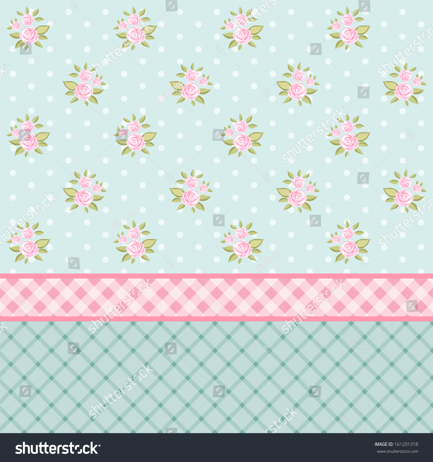 Vintage floral background pink roses shabby stock vector for Lampe style shabby chic