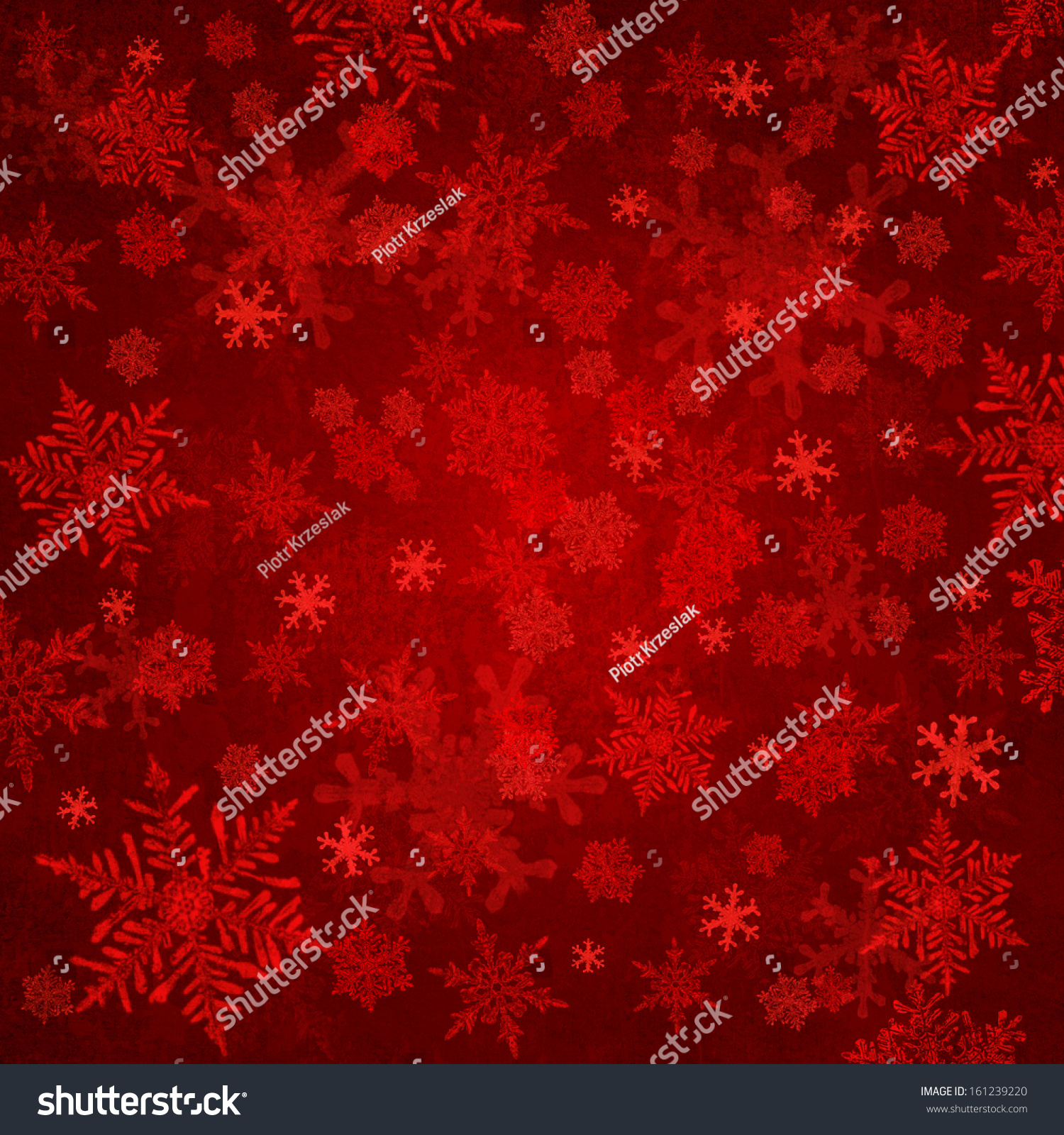 Red christmas background snowflakes stock photo