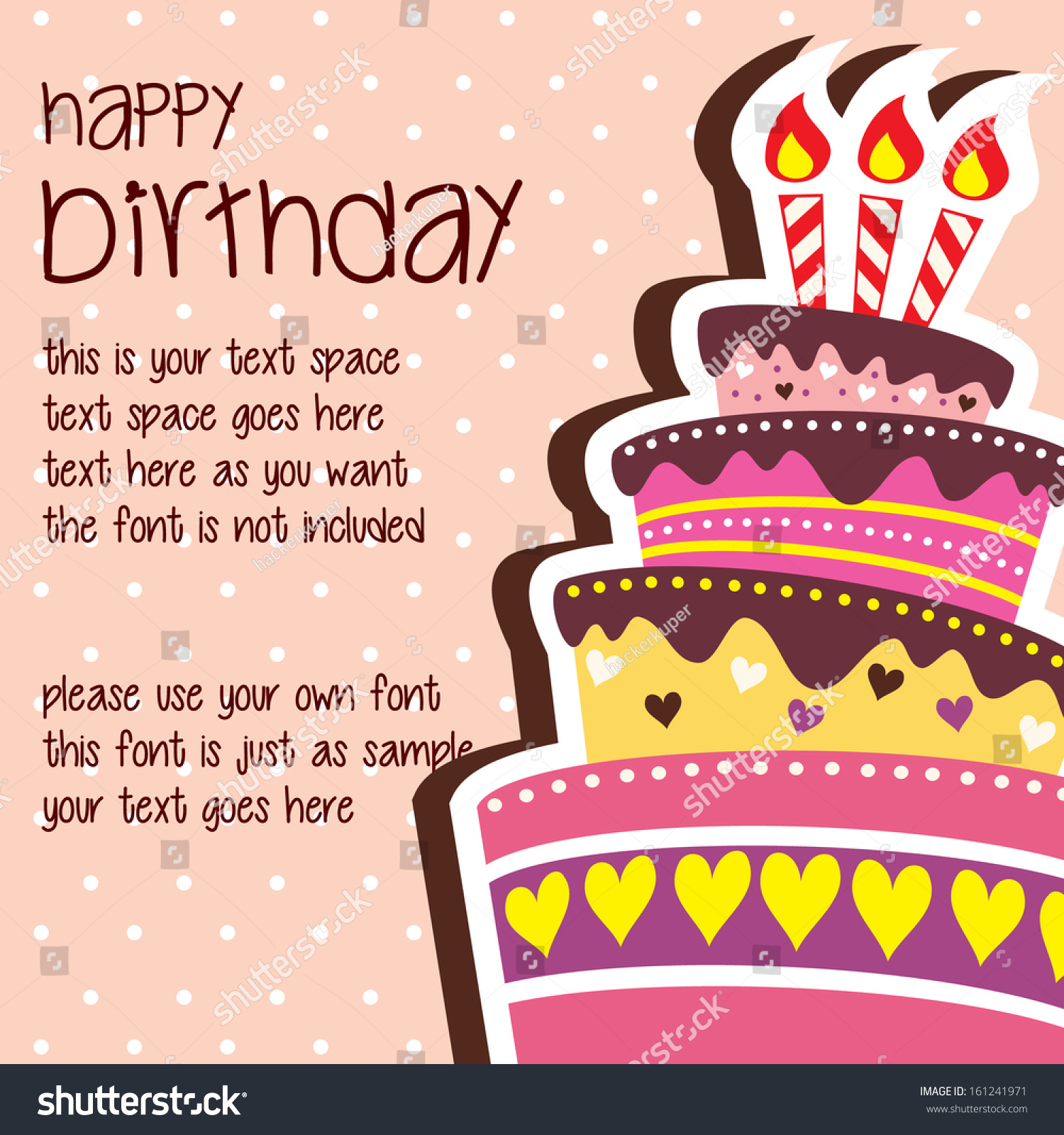 Birthday Postcard Template