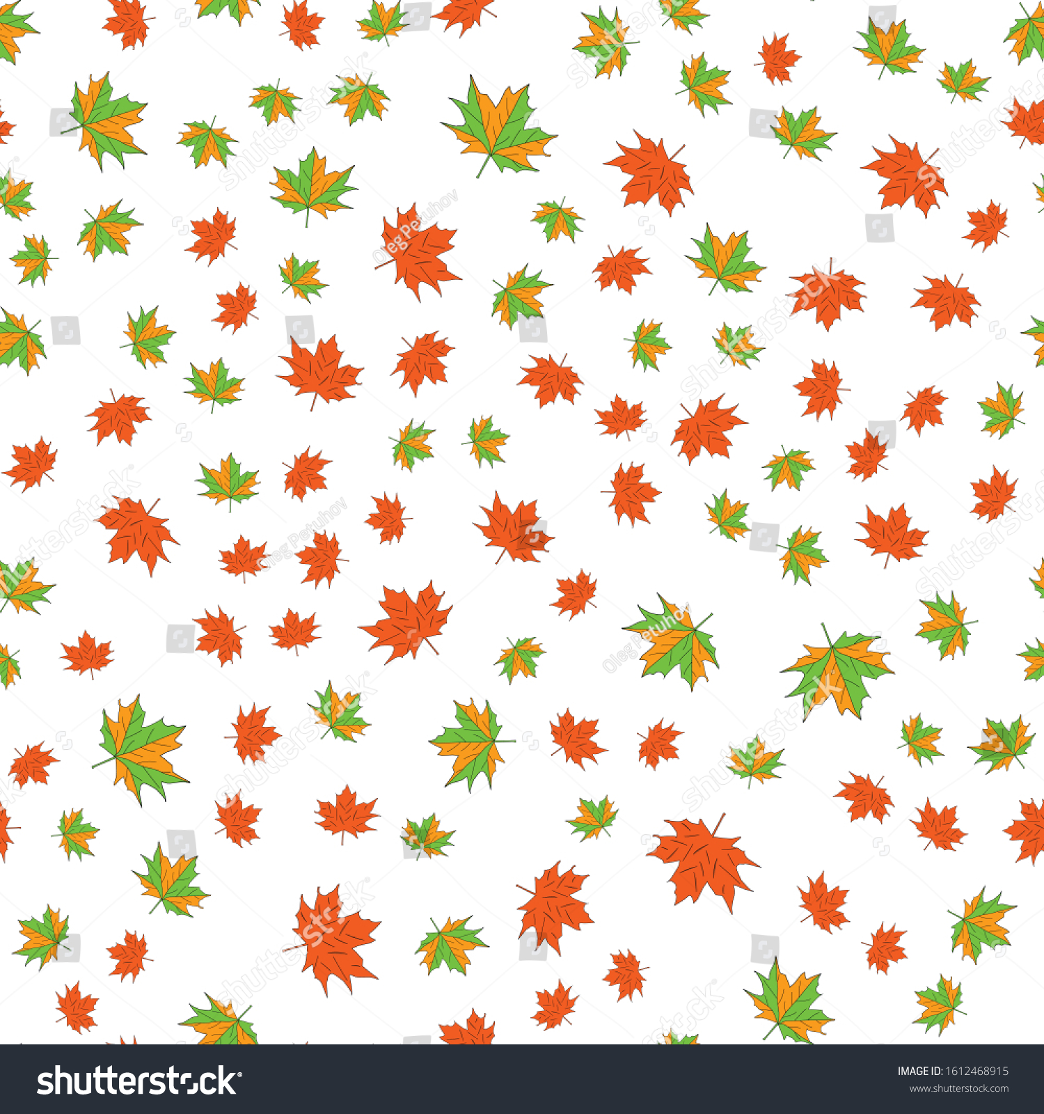 maple leafs seamless background. White background #1612468915