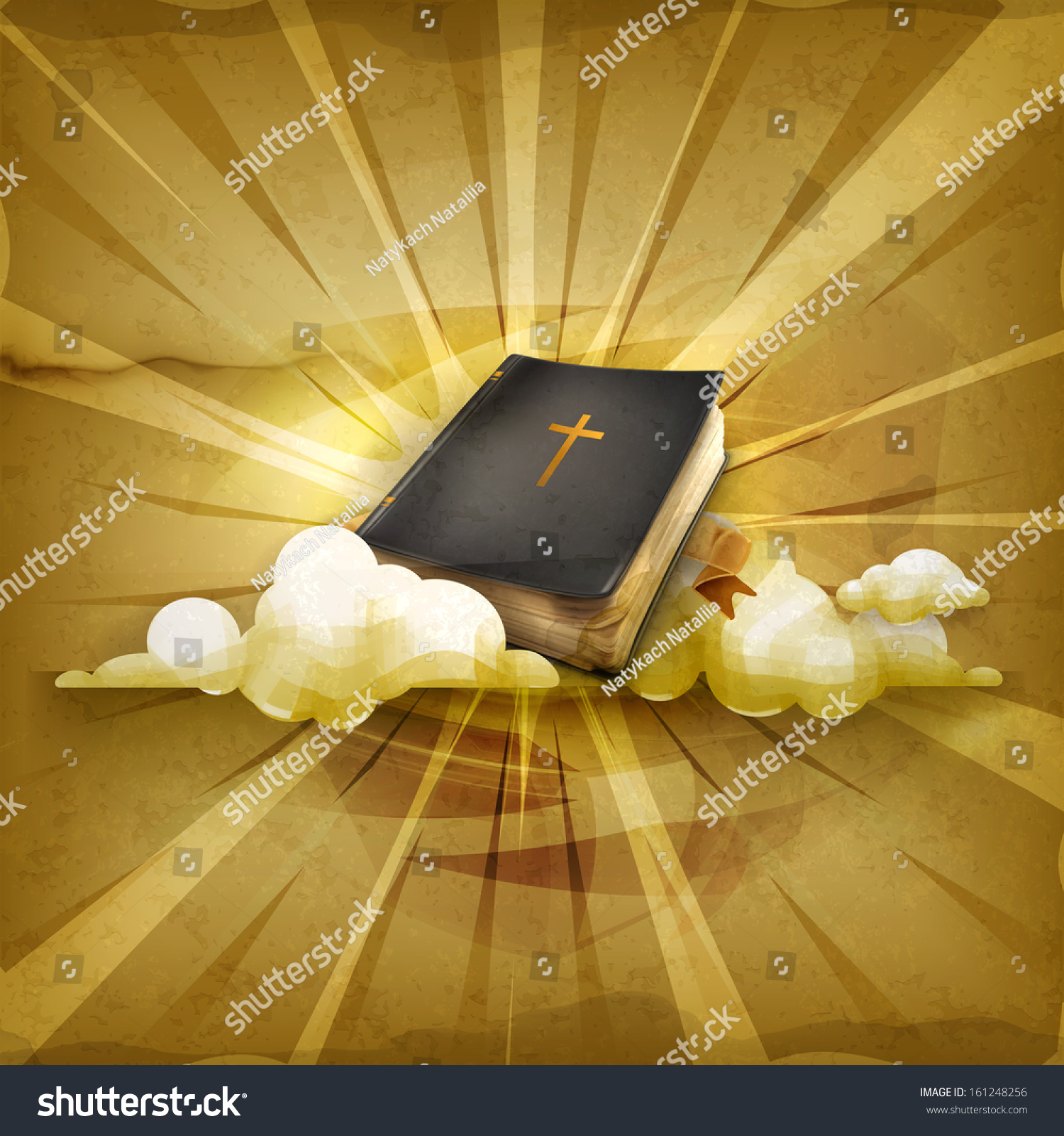 Vintage Leather Look Jeremiah Verse Bible Book Cover Large: Bible Old Style Vector Background Stock Vector 161248256