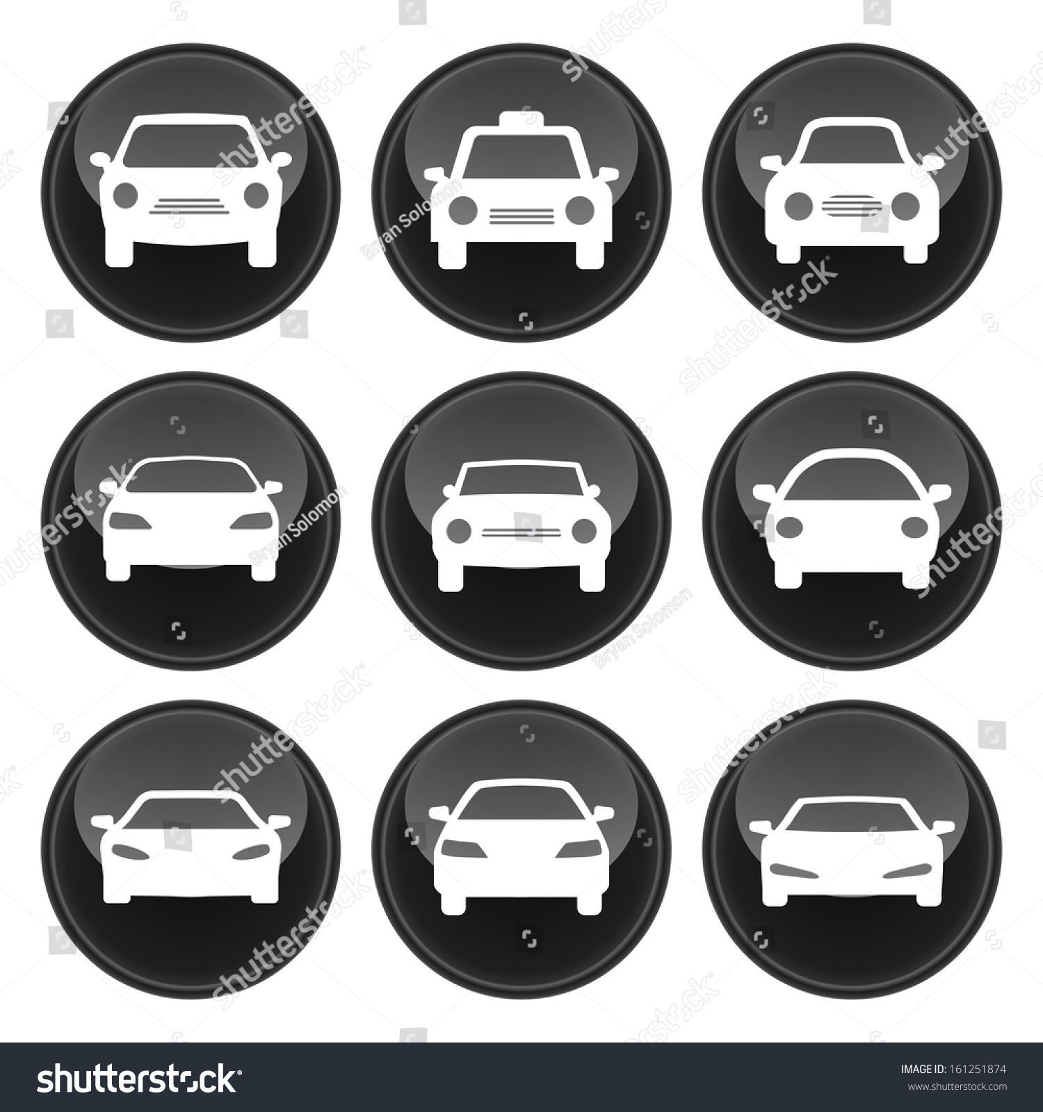 car icons glossy button icon set stock vector 161251874 shutterstock. Black Bedroom Furniture Sets. Home Design Ideas