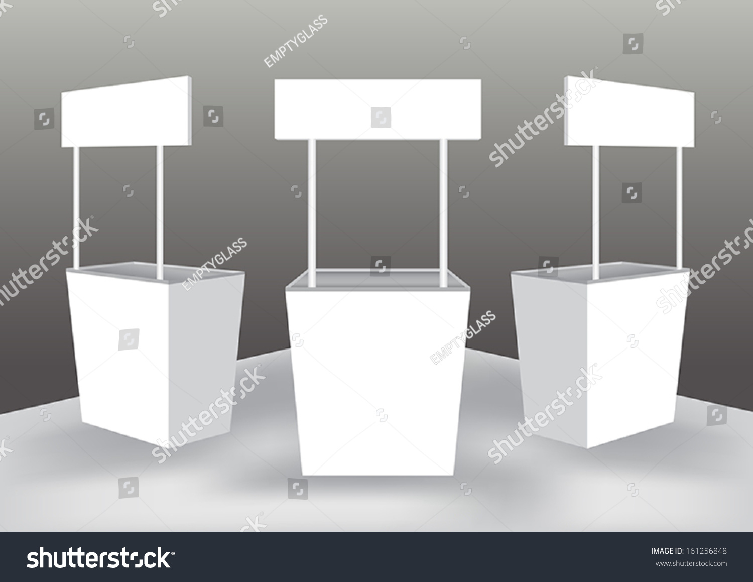 Blank Exhibition Stand Vector : Blank shelter display stand vector stock