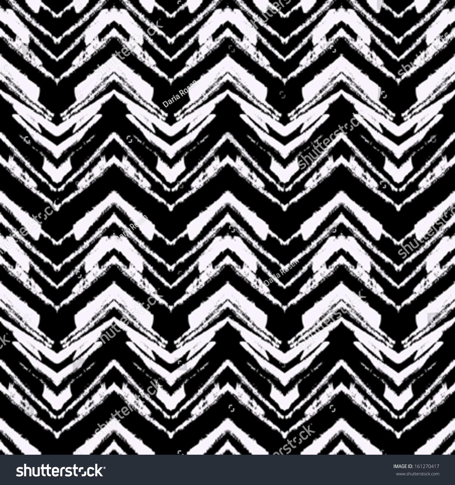black white hand drawn pattern zigzag stock vector 161270417 shutterstock. Black Bedroom Furniture Sets. Home Design Ideas
