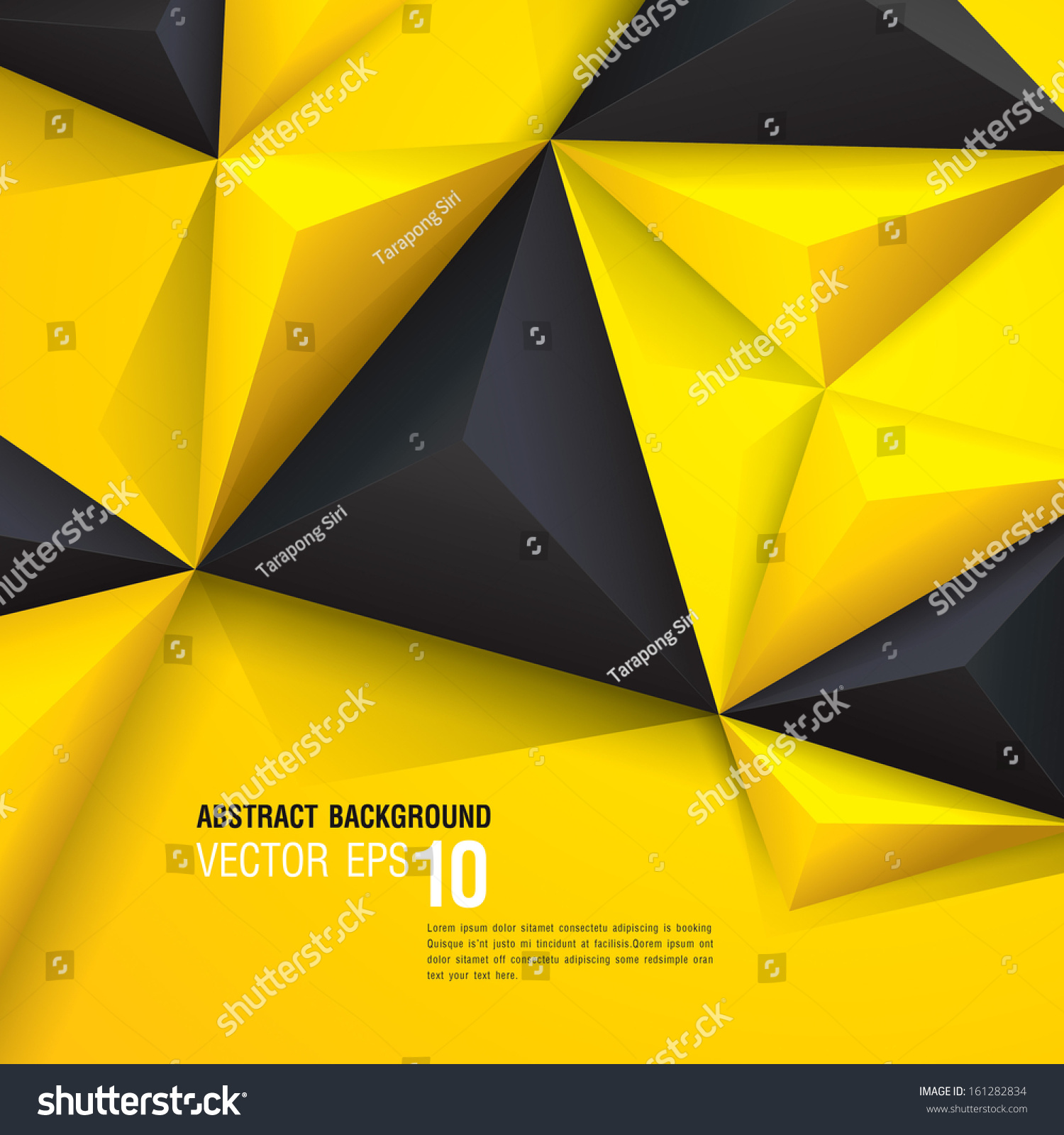 Black Book Cover Design ~ Yellow and black vector geometric background can be used