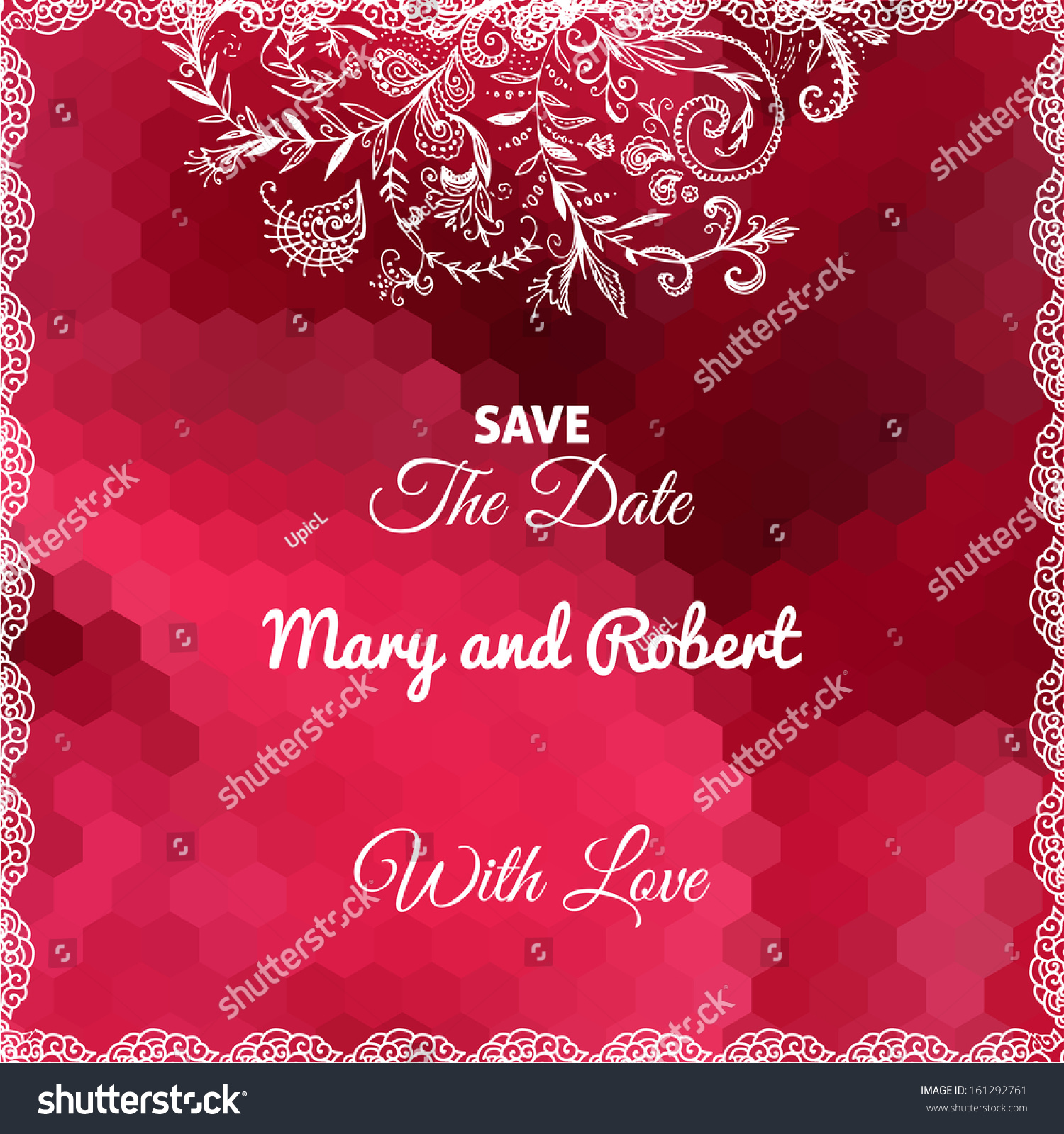 Wedding Invitation Card Doodle Ornament On Stock Vector (Royalty ...