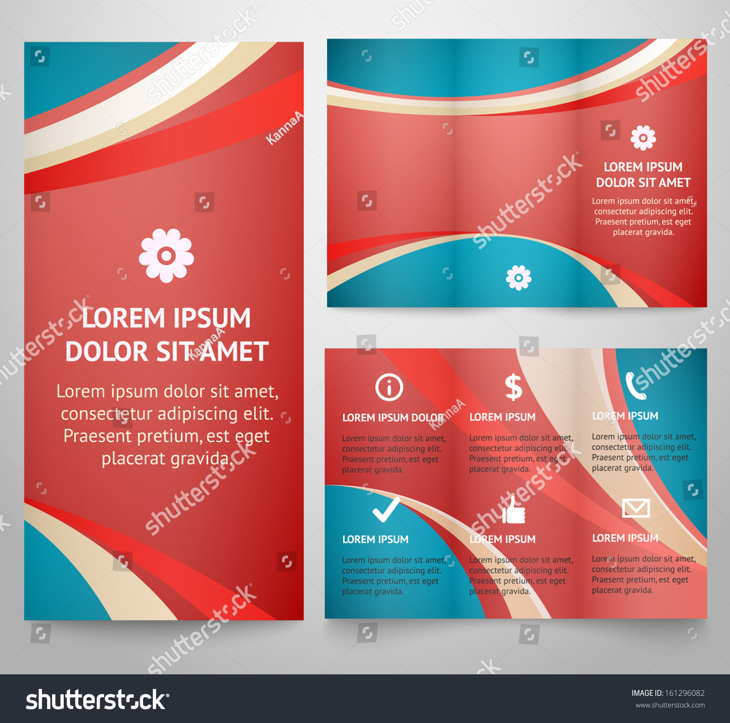 Professional three fold business flyer template stock for Professional brochure template
