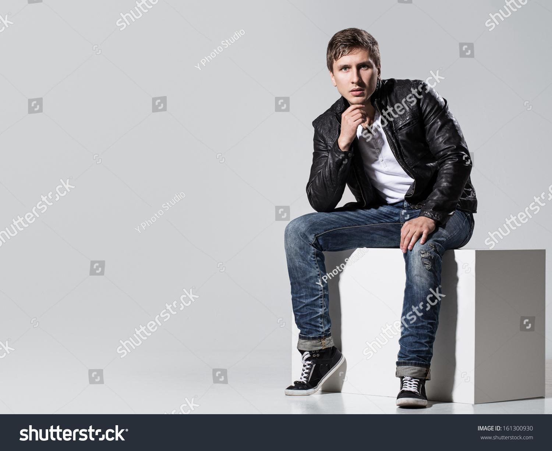 White T Shirt Leather Jacket - My Jacket