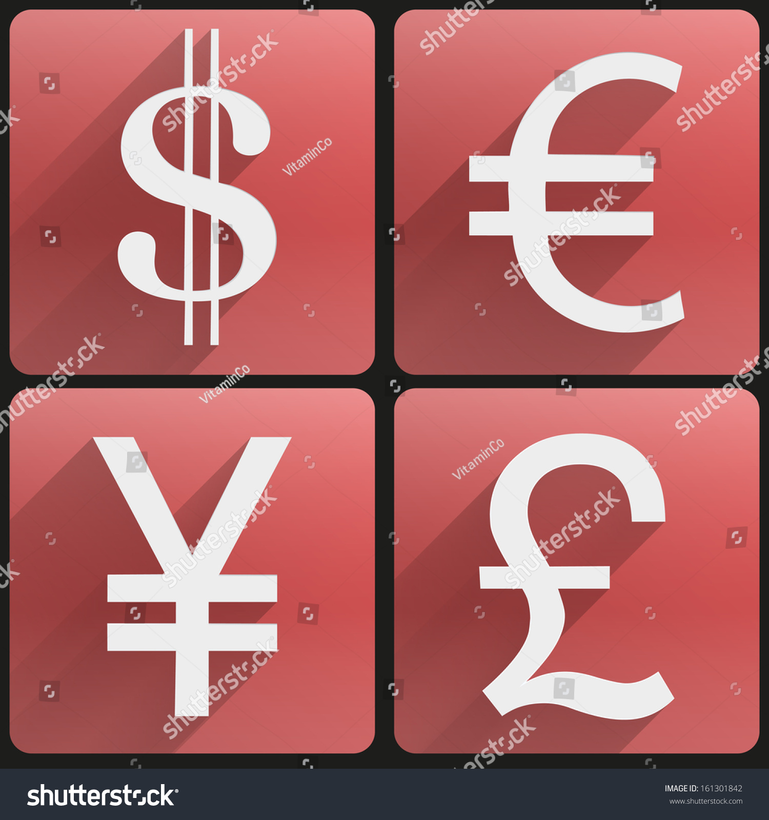 Currency icons symbol dollar euro yen stock vector 161301842 currency icons symbol dollar euro yen pound business finance vector illustration biocorpaavc Images
