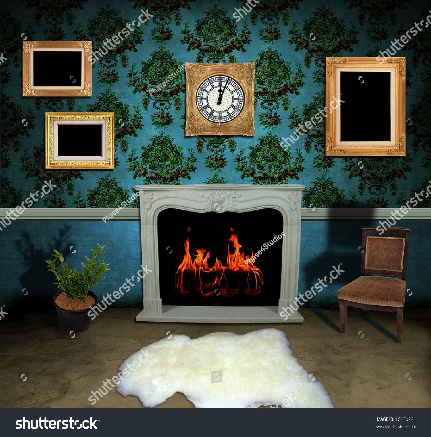 Empty Living Room: Empty Living Room Wallpaper