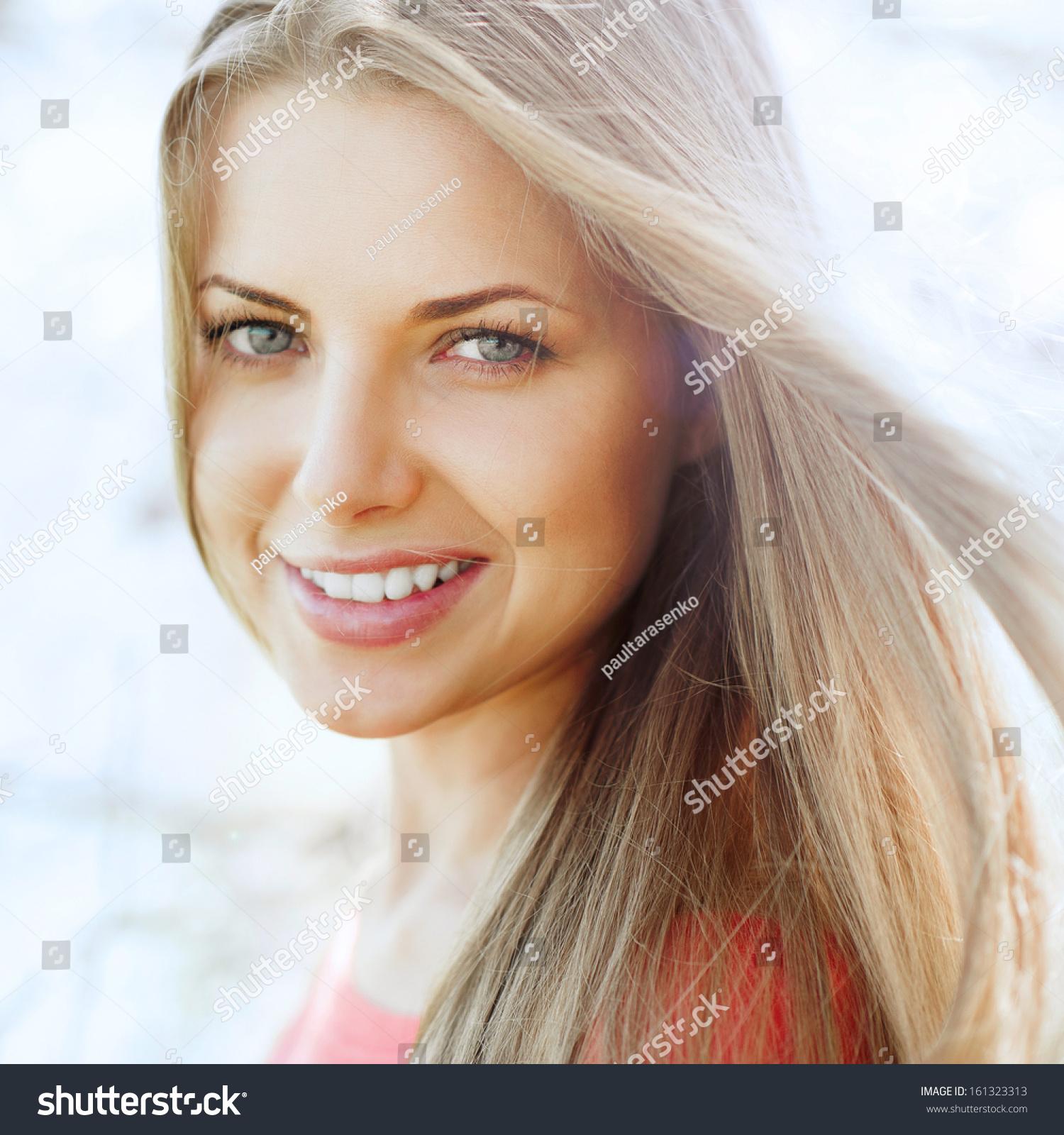 Beautiful Perfect Girl Face Portrait