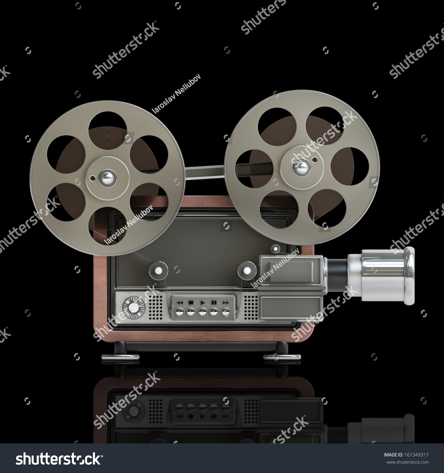 Cinema Projector Old Fashioned High Resolution 3D Image Stock Photo