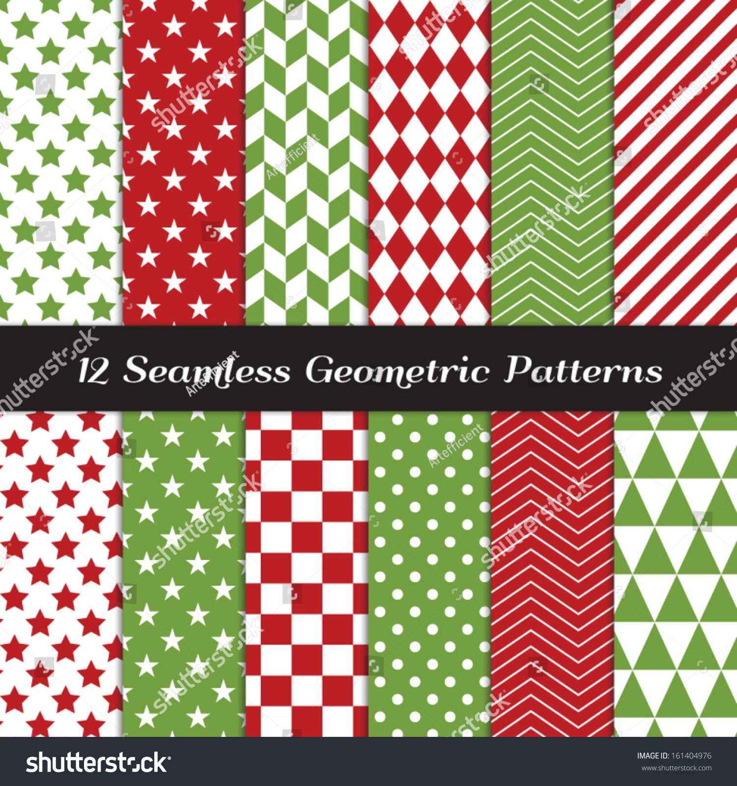 Pics photos merry christmas argyle twitter backgrounds - Christmas Red And Green Geometric Seamless Patterns Backgrounds In Diamond Chevron Polka Dot