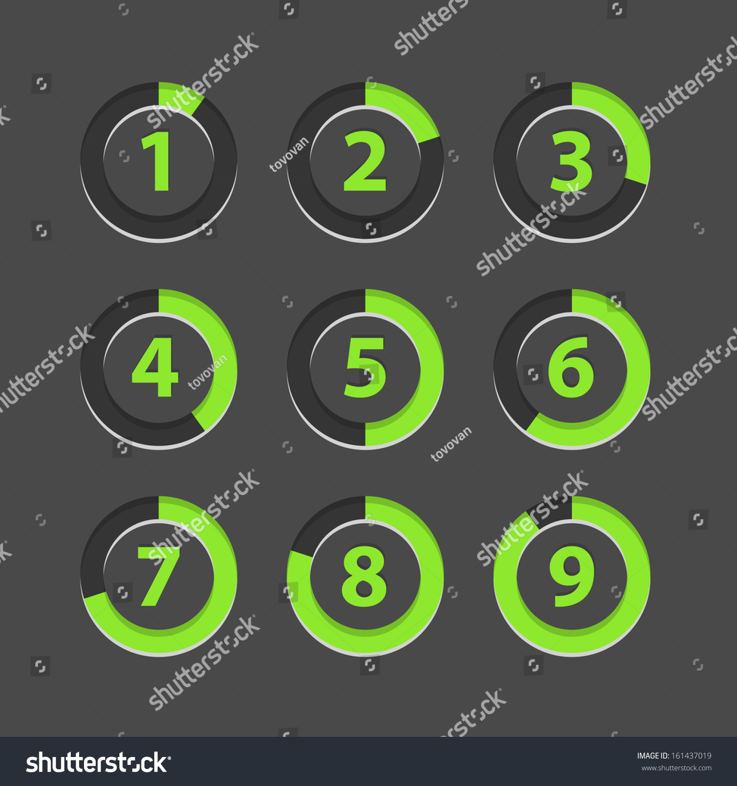 Countdown section icons template stock vector 161437019 for Countdown chart template