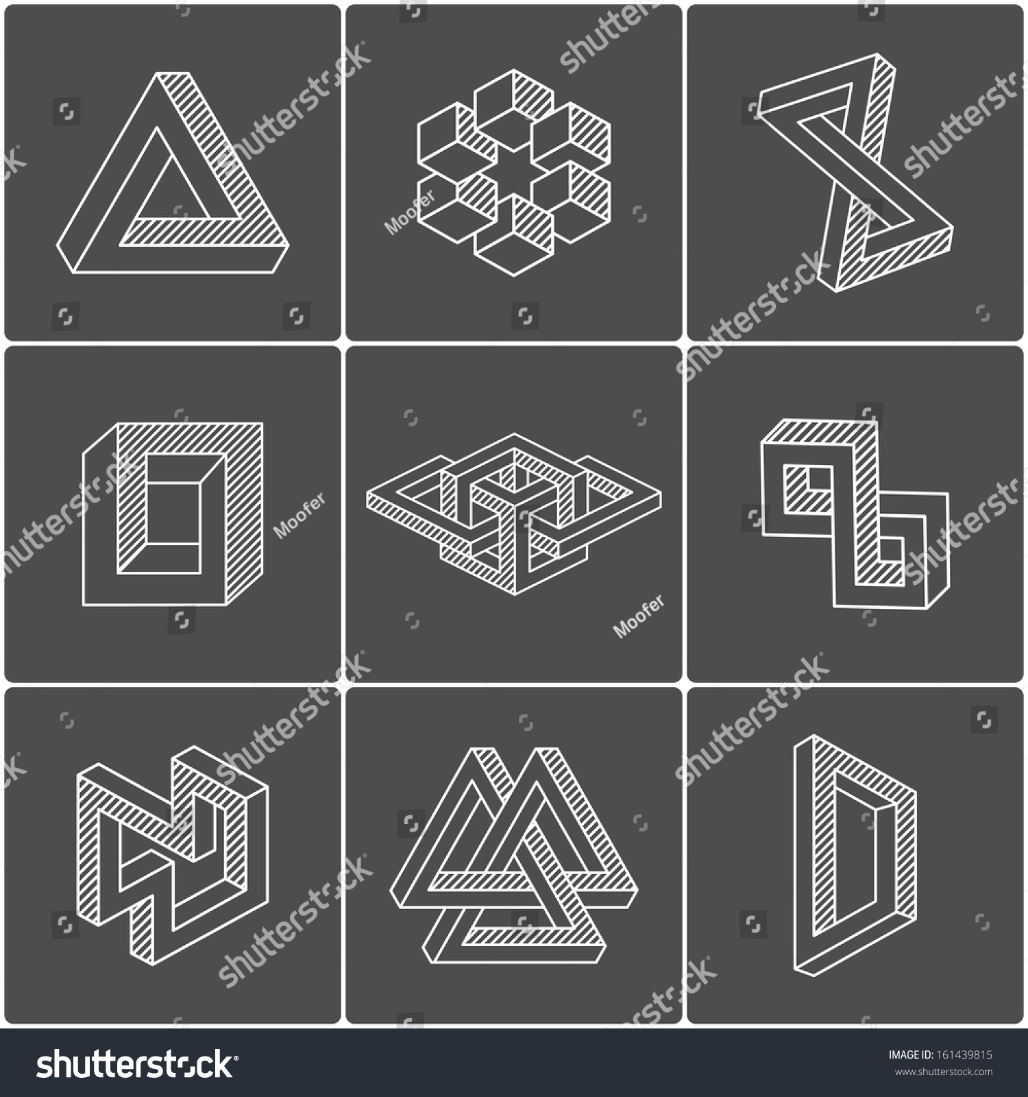 optical illusion geometric shapes vector identity shutterstock elements