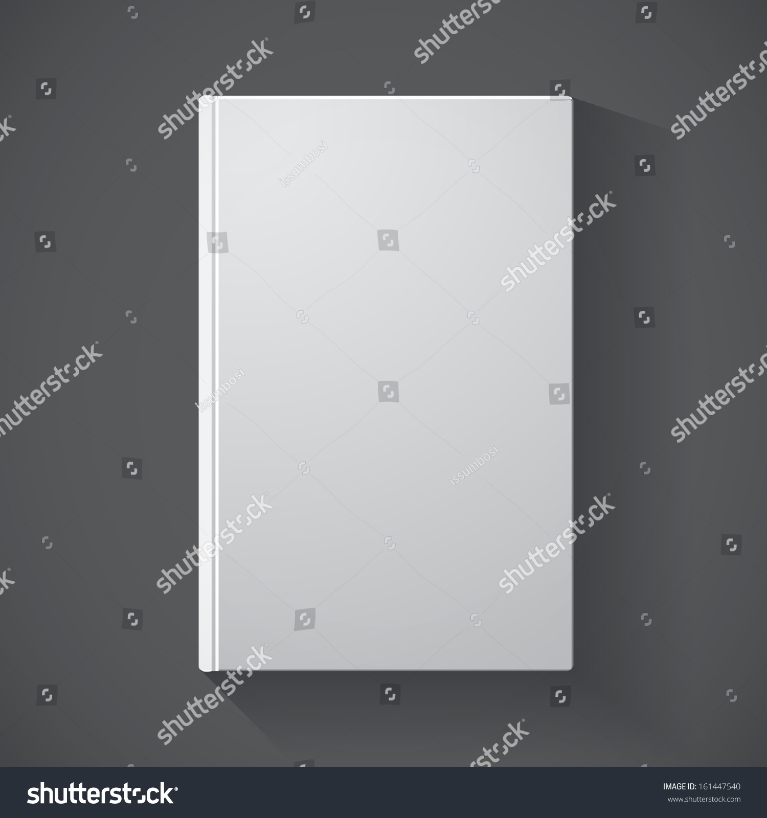 Blank Book Cover Background ~ Blank book cover on grey background stock vector