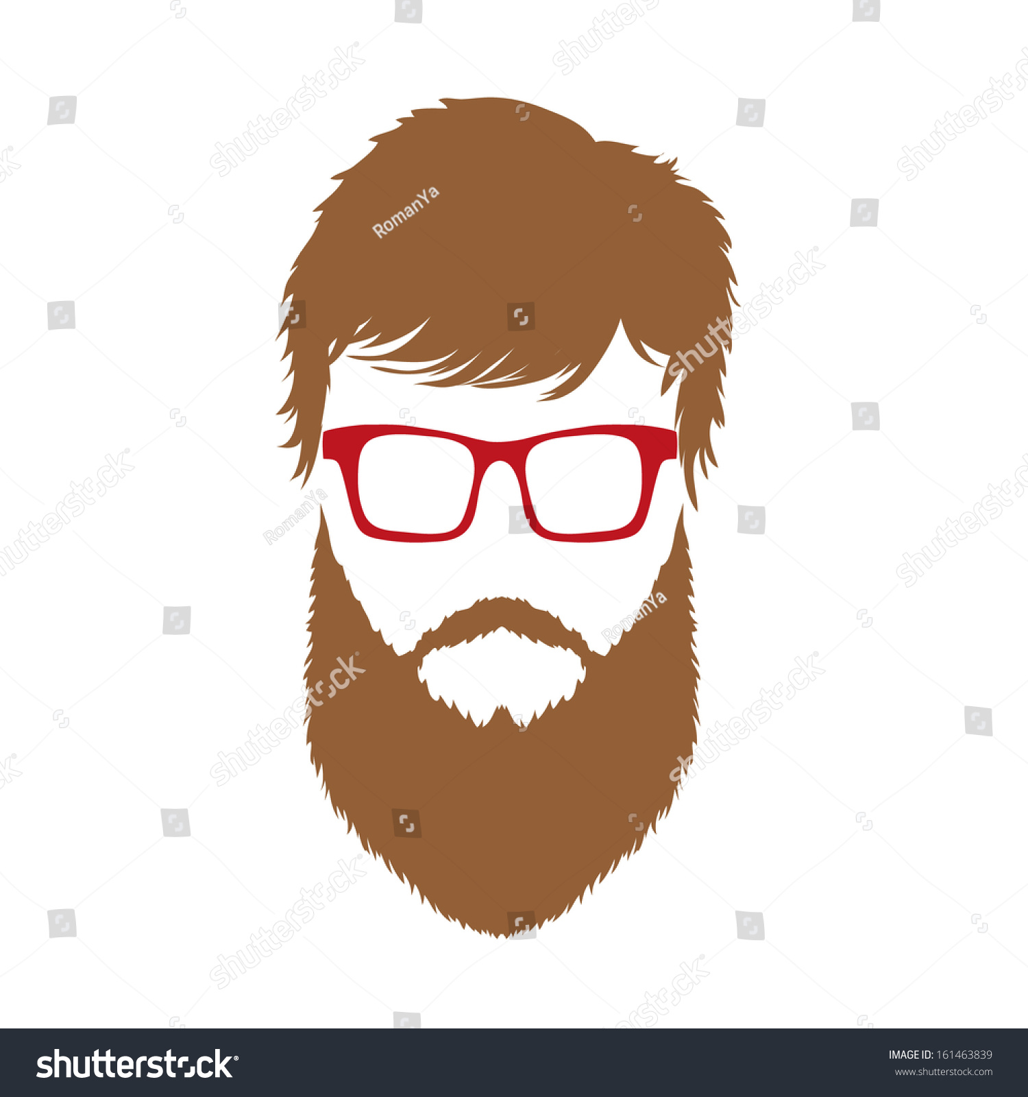 Fashion Silhouette Hipster Style Vector Illustration 161463839 Shutterstock