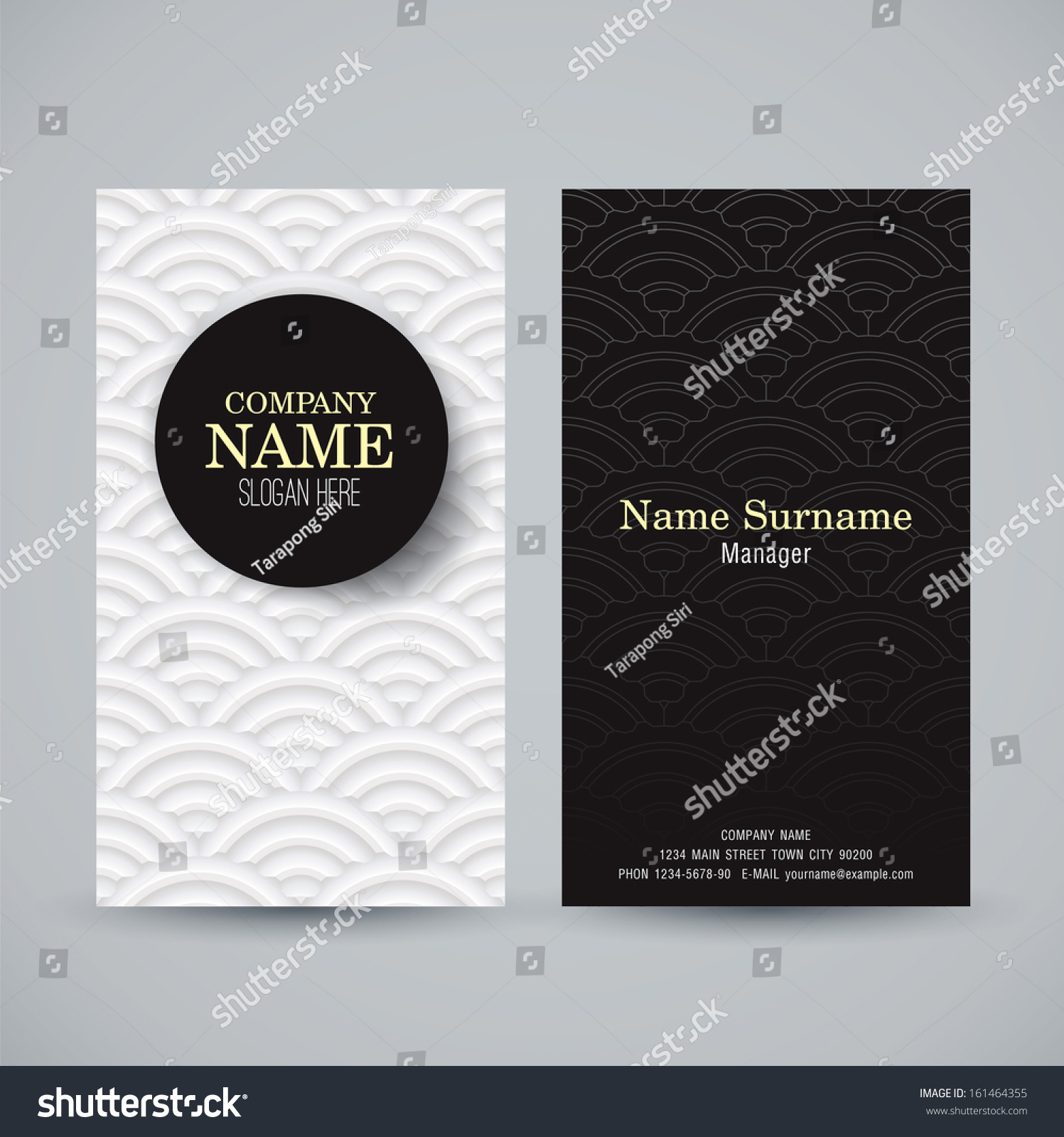 Name Card Design Template Business Card Stock Vector 161464355 ...